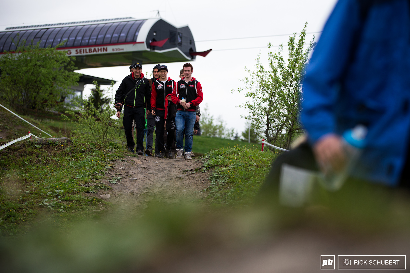 The GZ Racing Team at their collective track walk