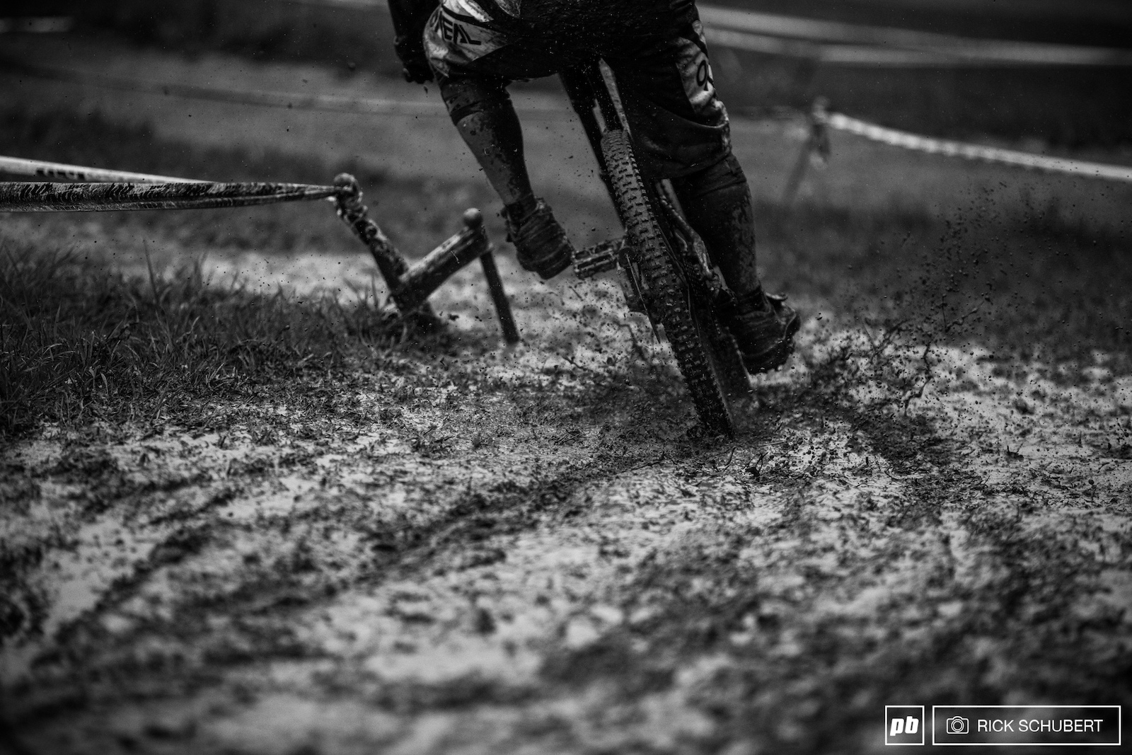 The rain kept it steady the whole day and caused some serious track conditions