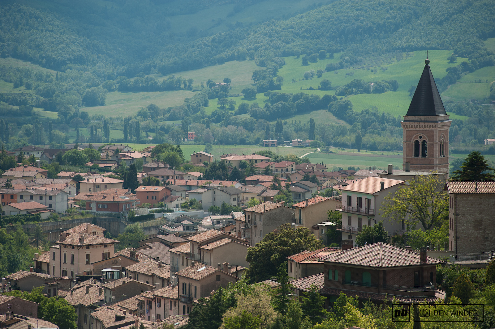 A super picturesque town in the heart of Italy.