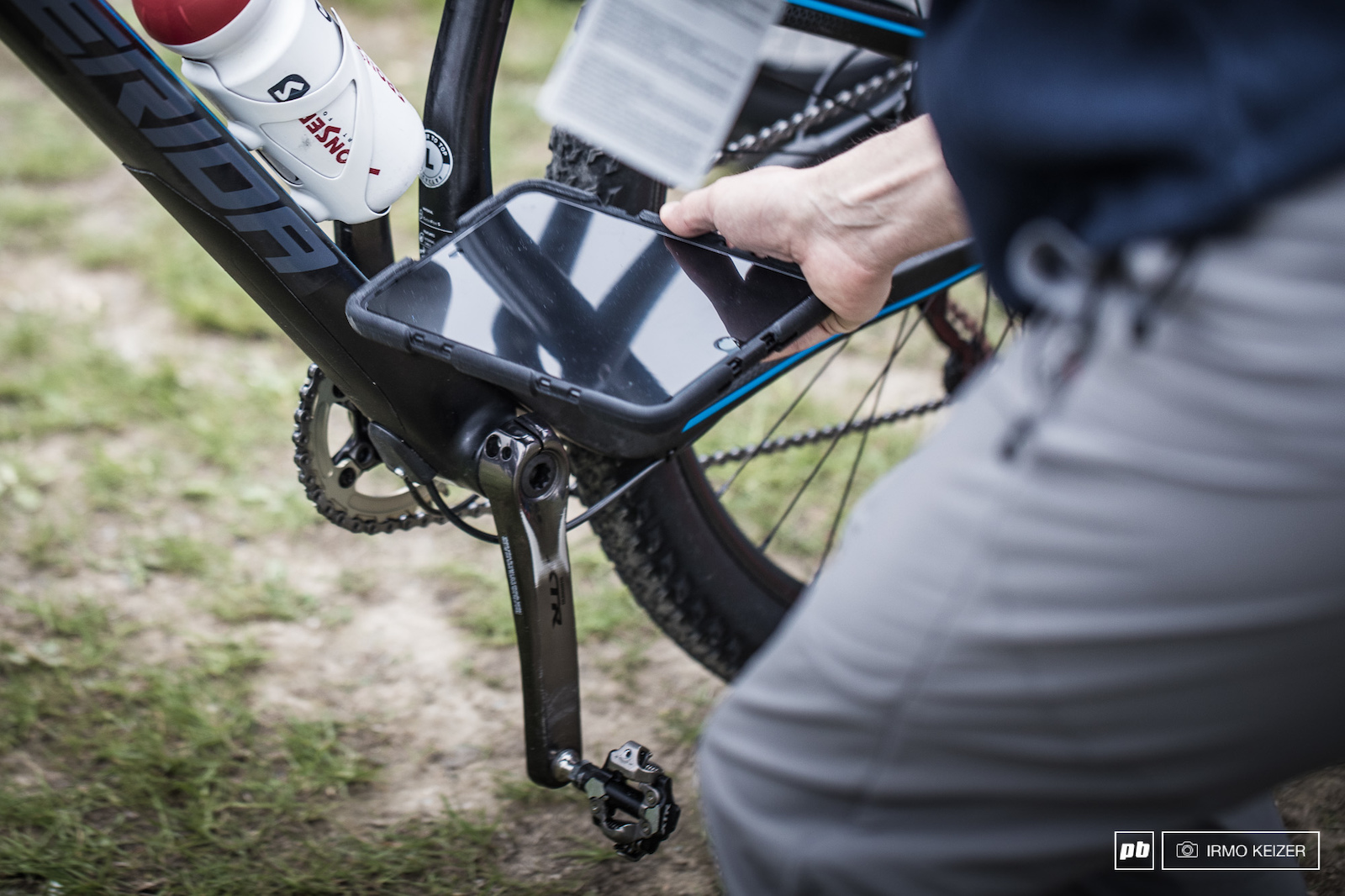 The UCI s iPad and app detects any magnetic abnormalities used to find hidden motors in bikes. So far none have been found in mountainbiking. Checks are done prior and after races.