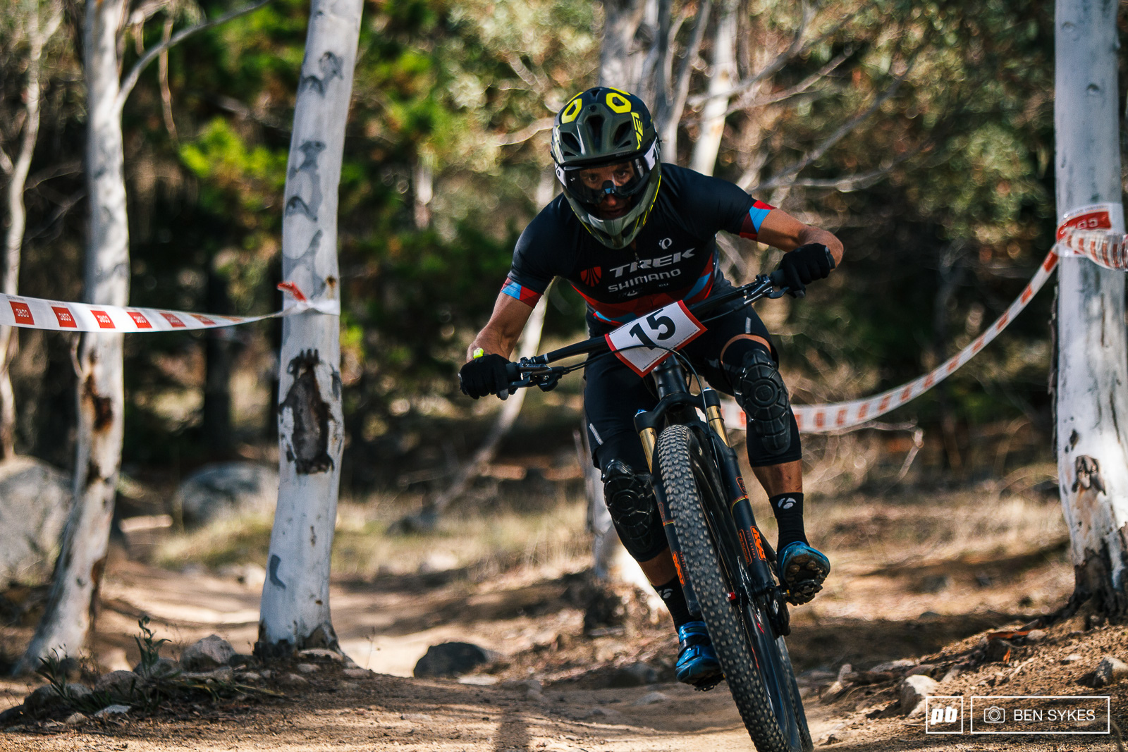 Dylan Cooper having a good day on the bike to take second.