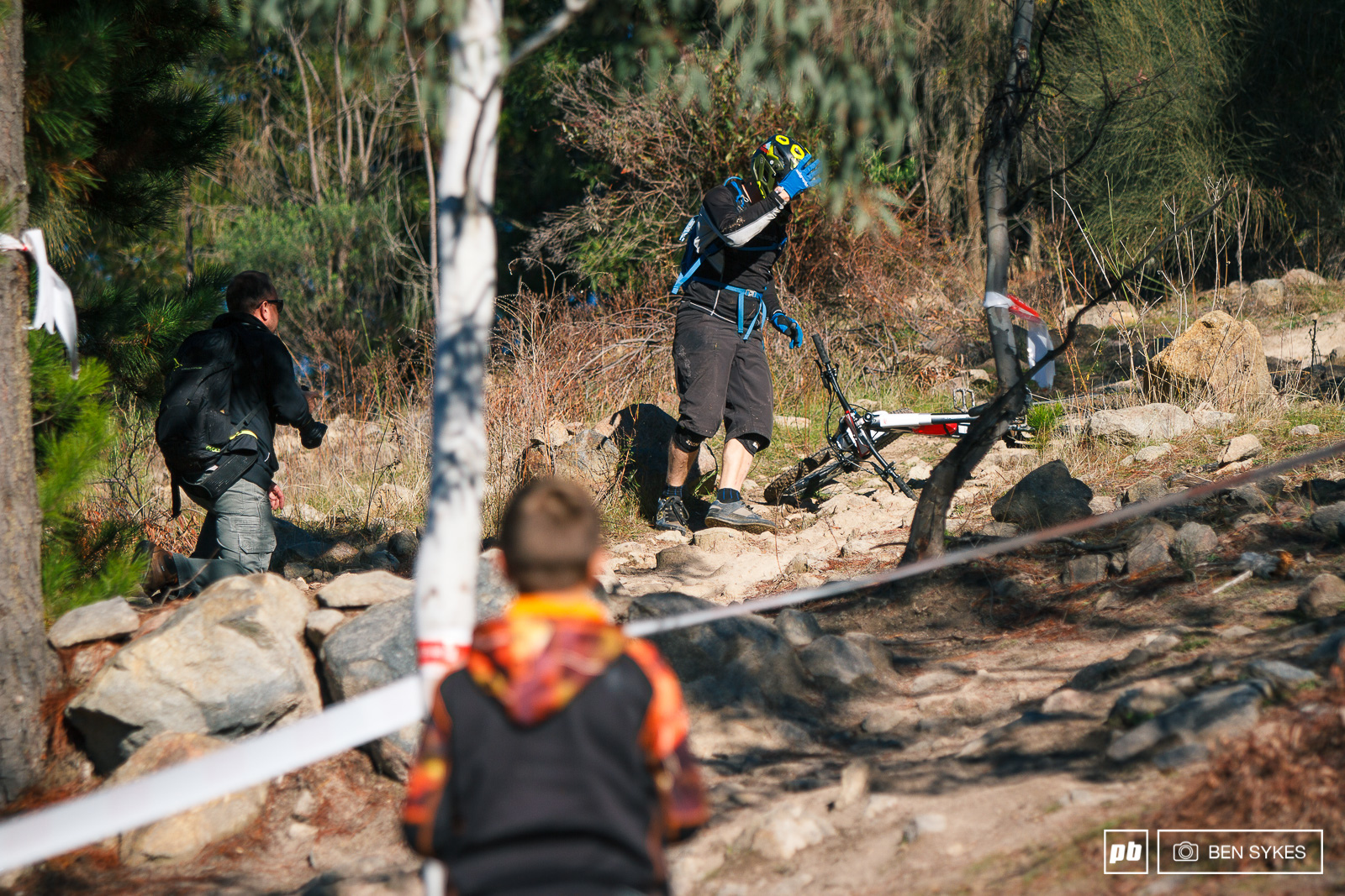 The inclusion of Up The Anti a steep rocky section made for some hard work and crashes.