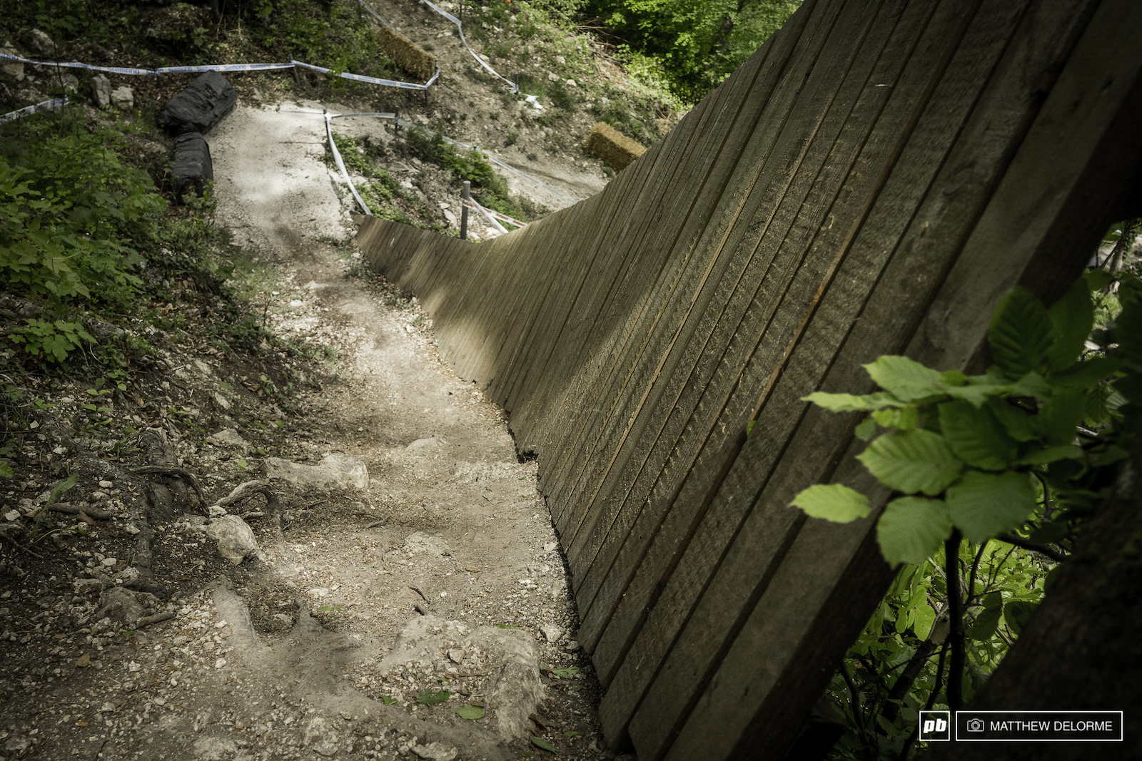 The wall will keep riders from blasting down a mini cliff but it may also claim some skin.