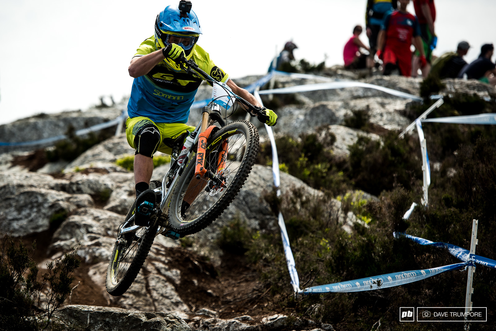 Where many riders struggle Martin Maes just pulls up and sends it on Stage 3.