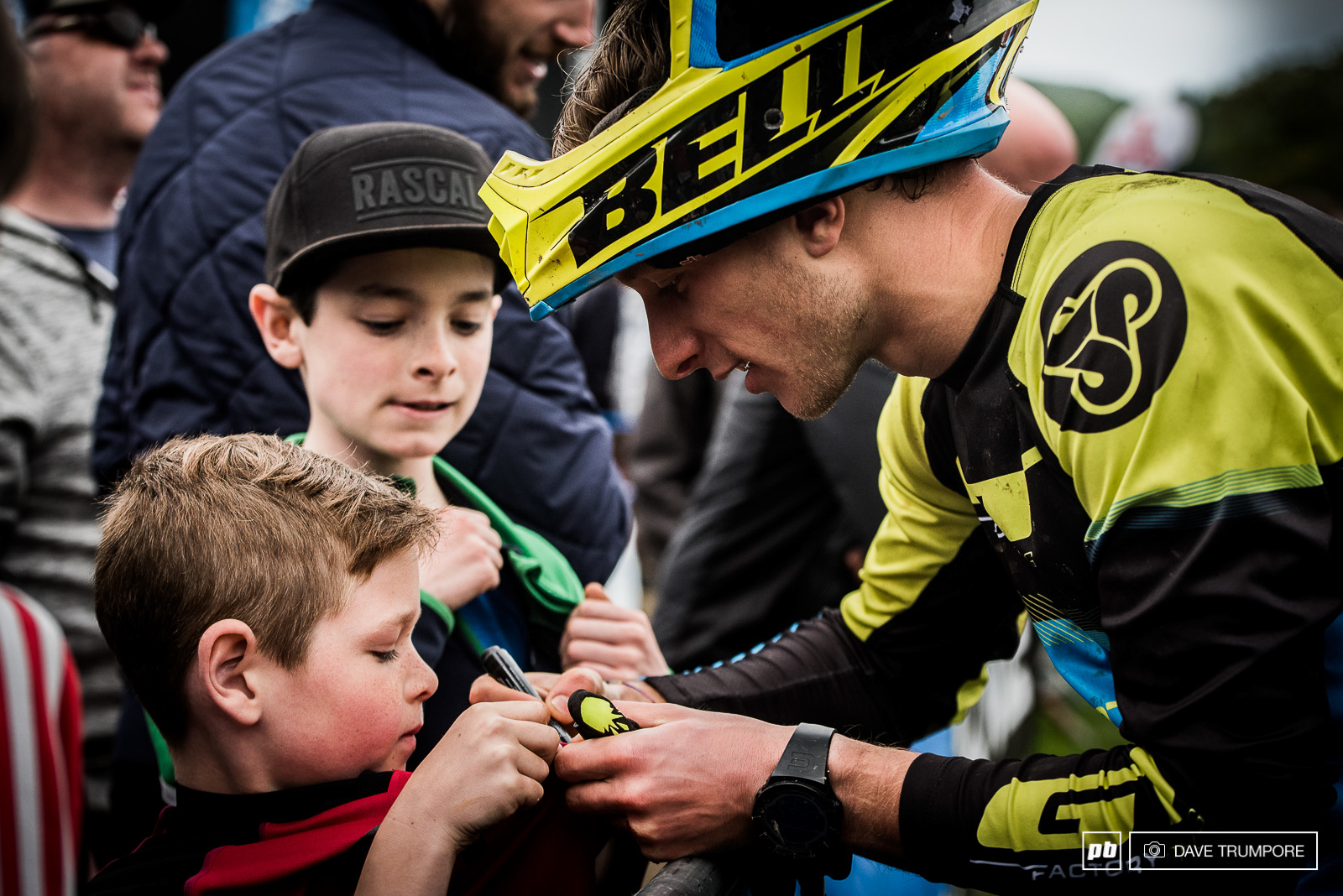 Martin Maes is by far one of the friendliest guys on the circuit and spent time long after the race hanging with the many young fans.