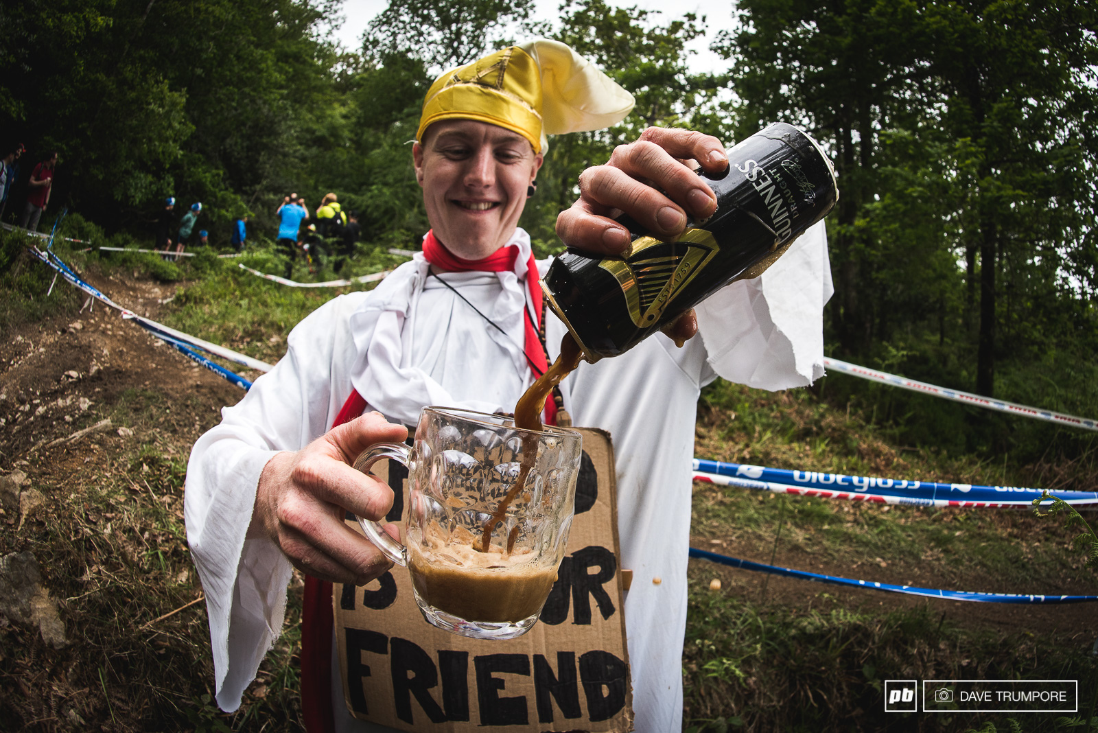 Mid-track Guinness poured by the Pope Who could say no to that.