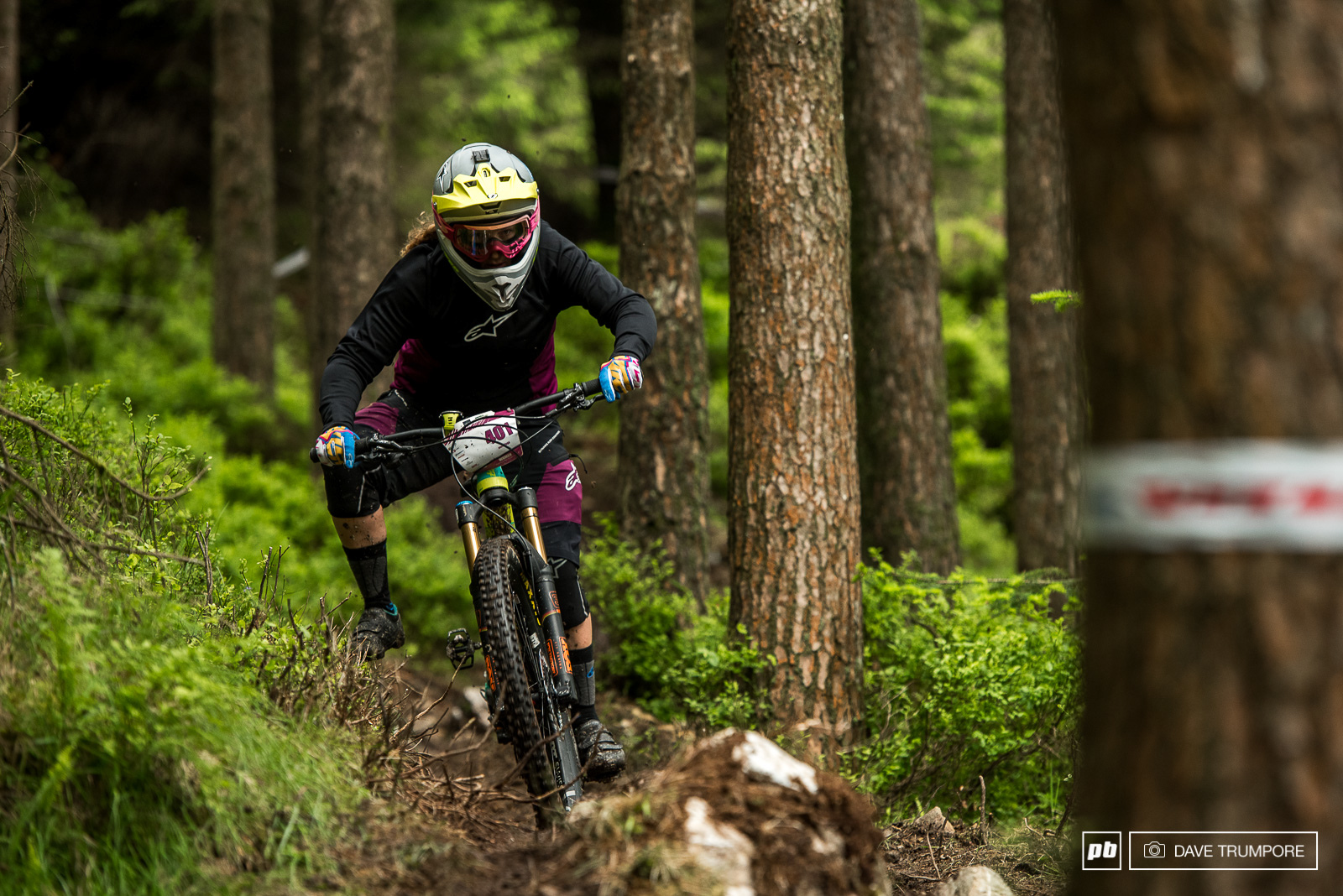Off her podium pace seen last round in Madeira Noga Korem would end the day in 9th.