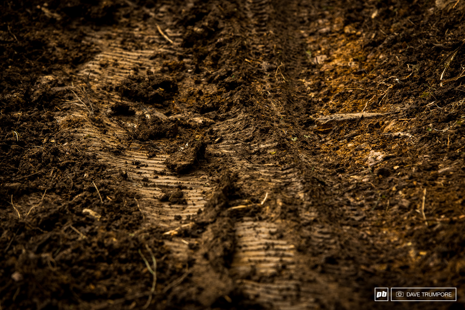 A day of rain turned the dusty trails to golden slime come race time.