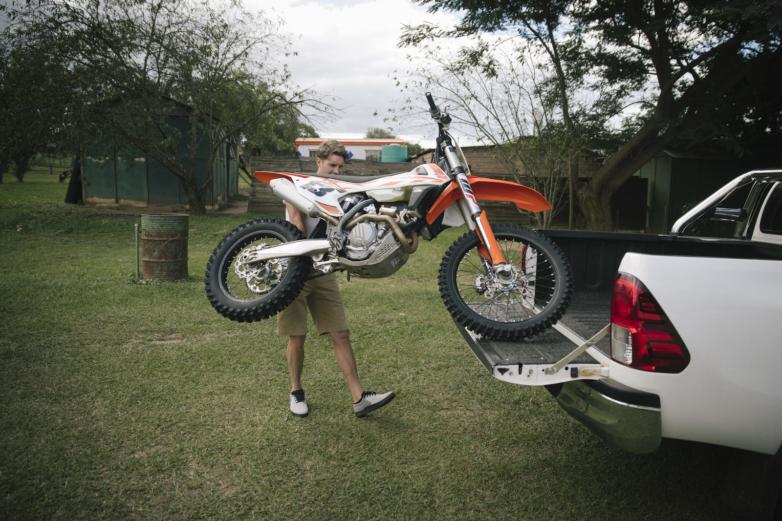 Greg Minnaar at home in Pietermaritzburg South Africa
