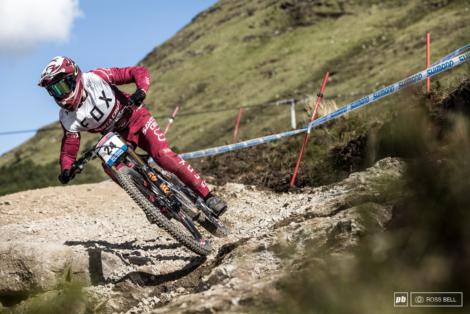 Loris Vergier is a man on a mission at the moment riding with calmness and composure.