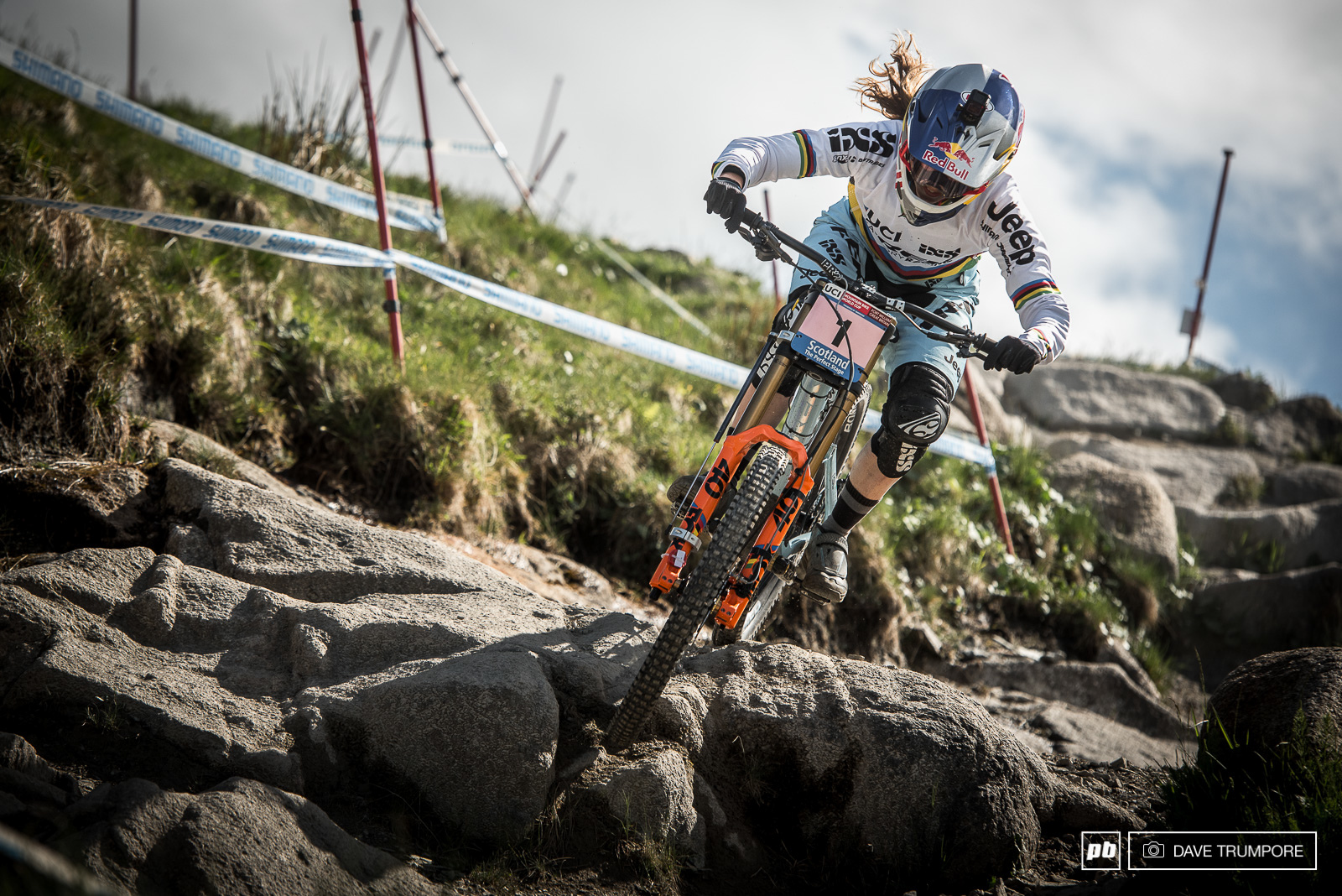 Fastest in timed training Rachel Atherton is right where she wants to be after the first day of practice.