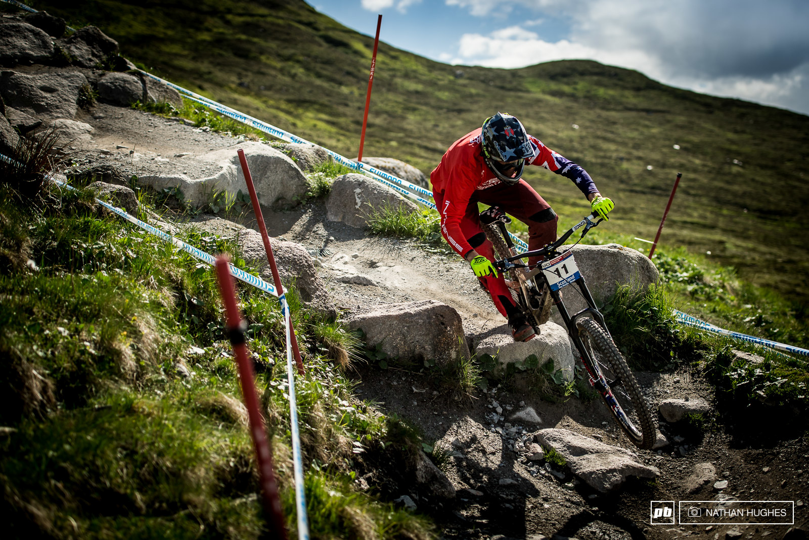 Number one Aussie Mr Moir dropping the hammer down the step section.
