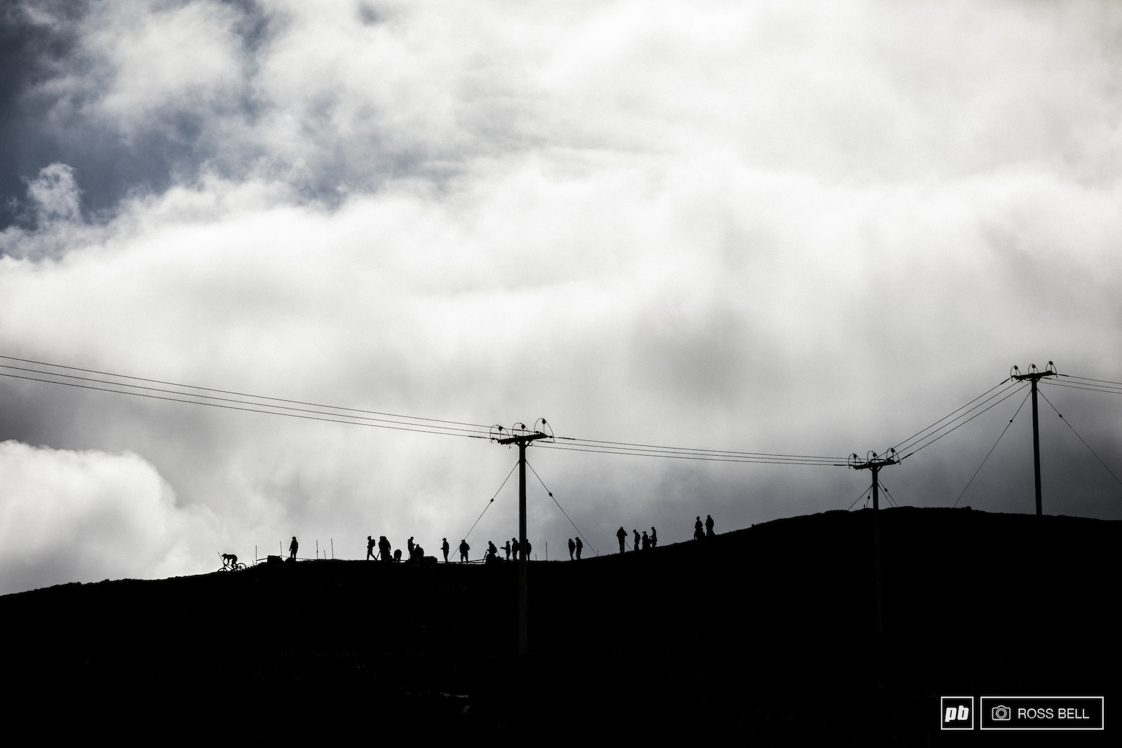 Epic skies rolled over Ben Nevis with the rain holding off until the last few elite men dropped in.