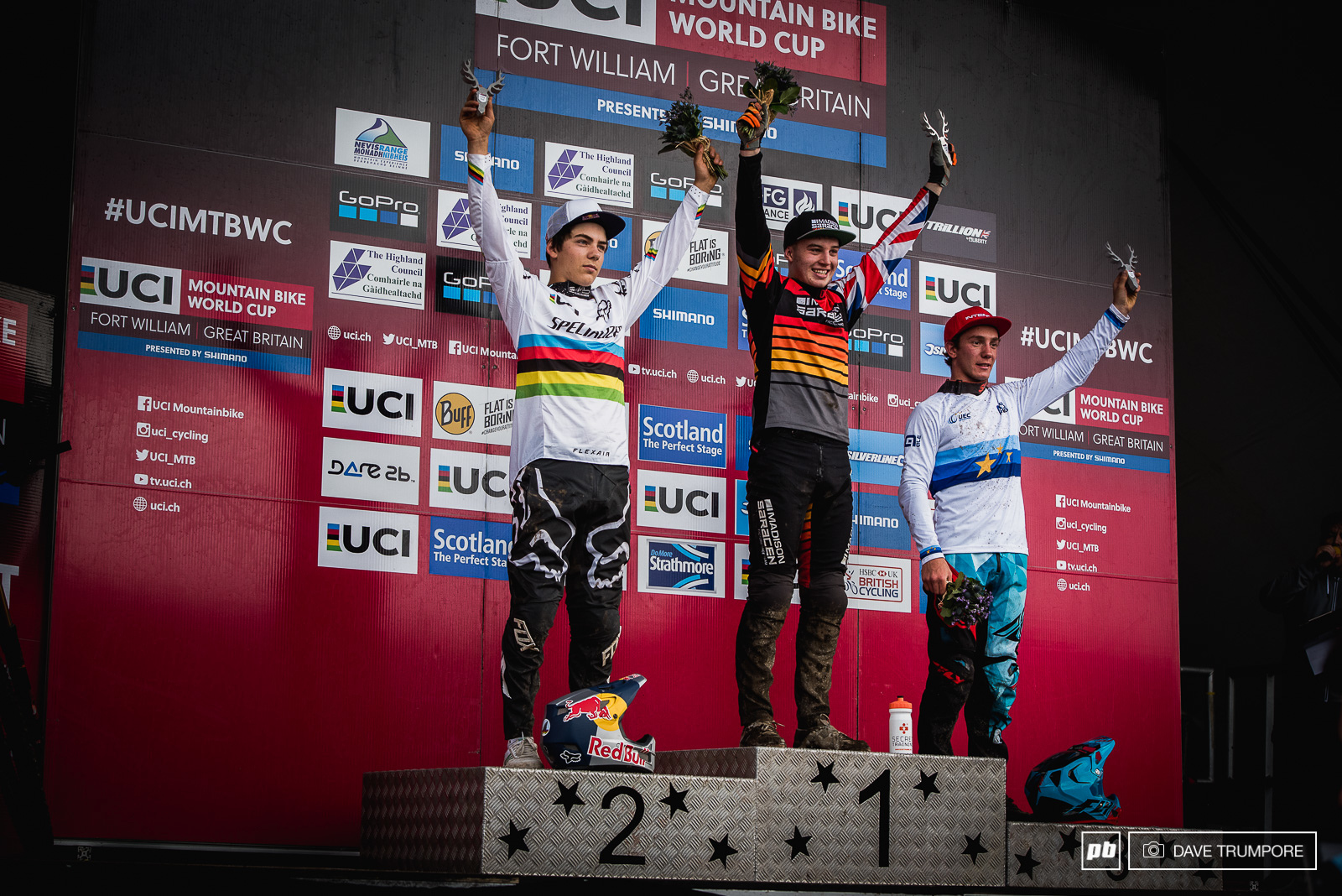 Britain Canada and France on the top steps of the Junior Men s podium.