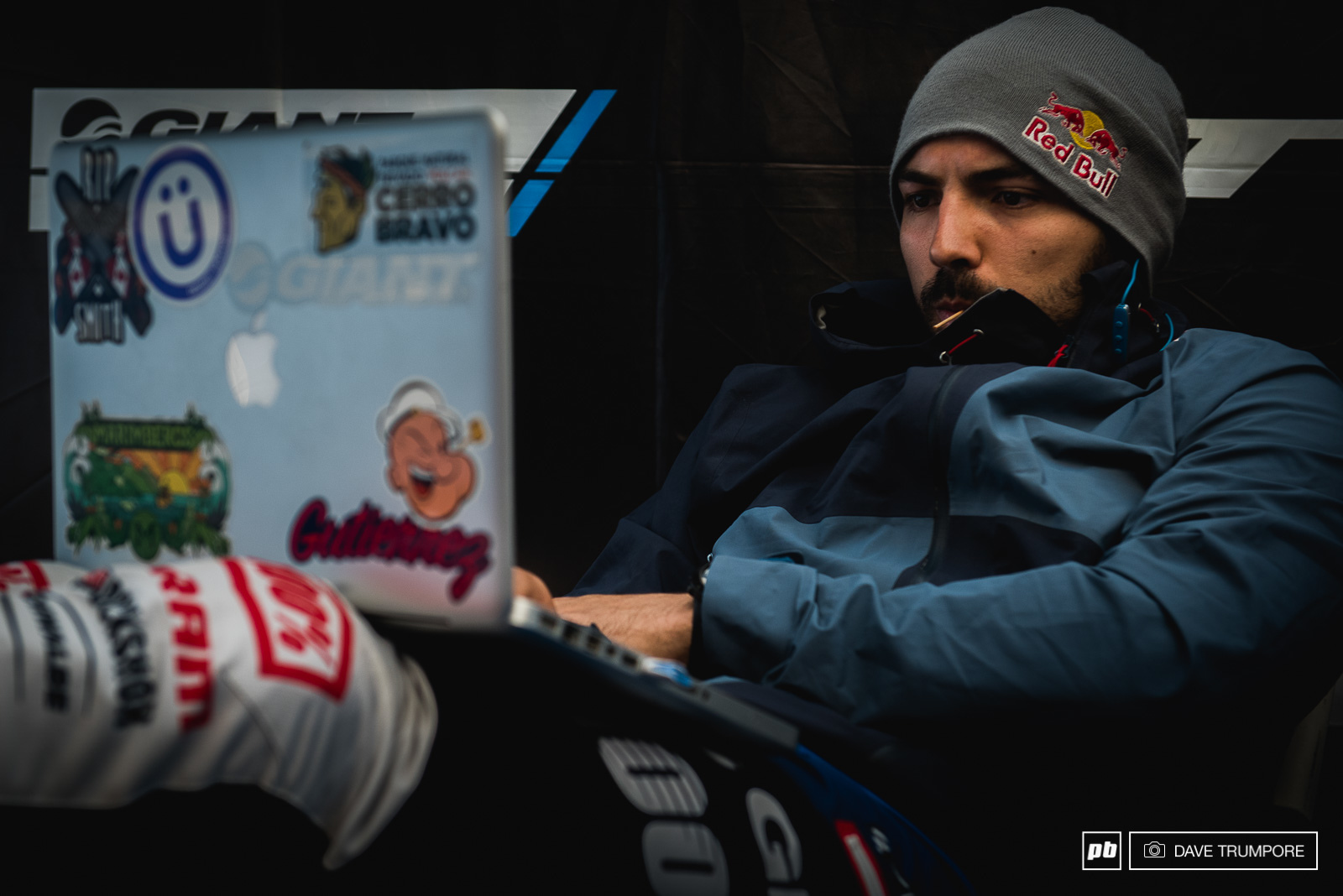 Marcelo Gutierrez started the day nice and relaxed and ended the day second in the overall World Cup standings just two points behind Greg MInnaar.