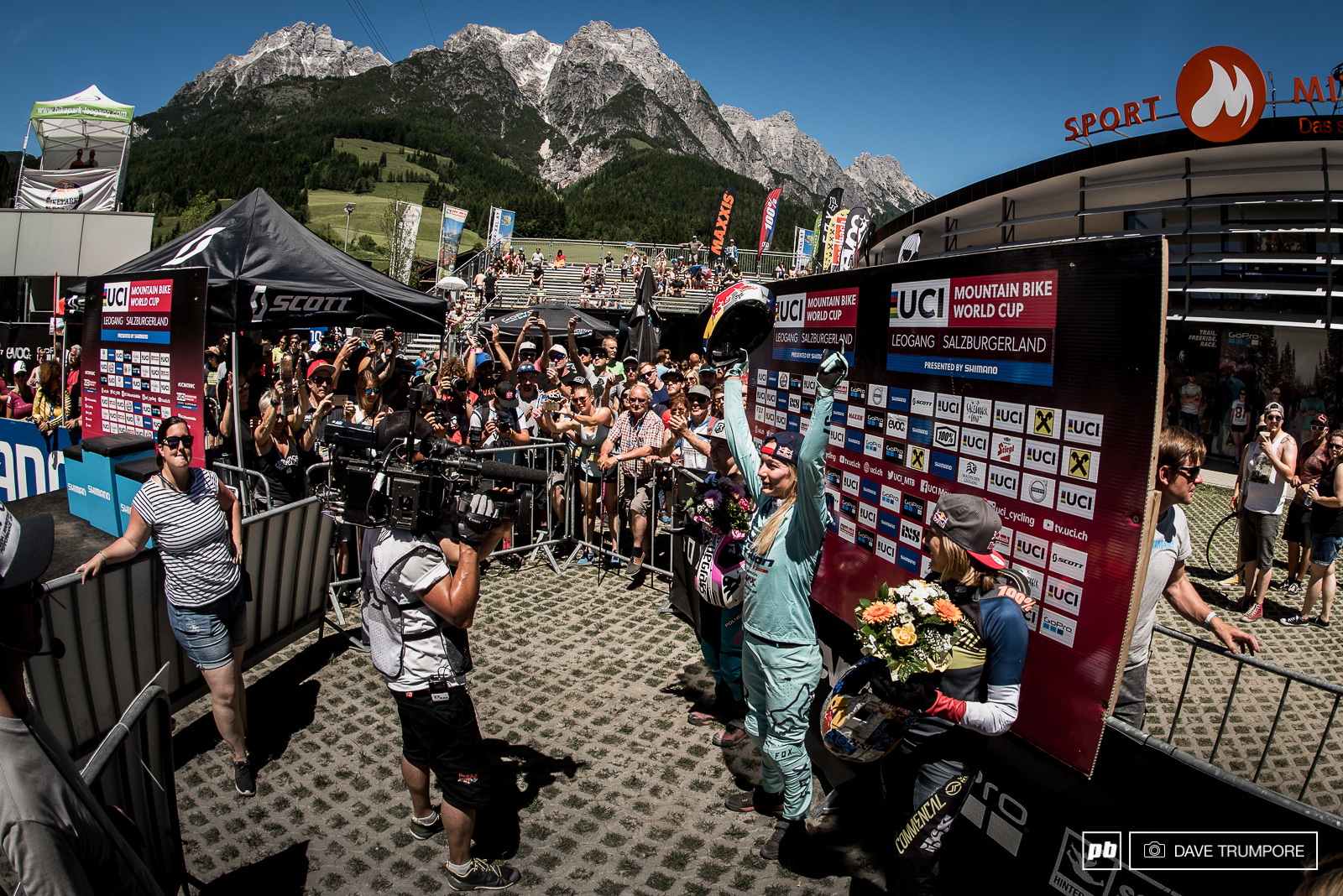 What a day for Tahnee Tracey and Pom Pon in Leogang.