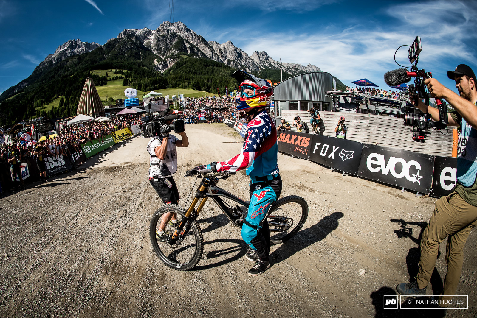 Since the blown tyre debarcle of 2014 Aaron Gwin simply can t miss here in Leogang.