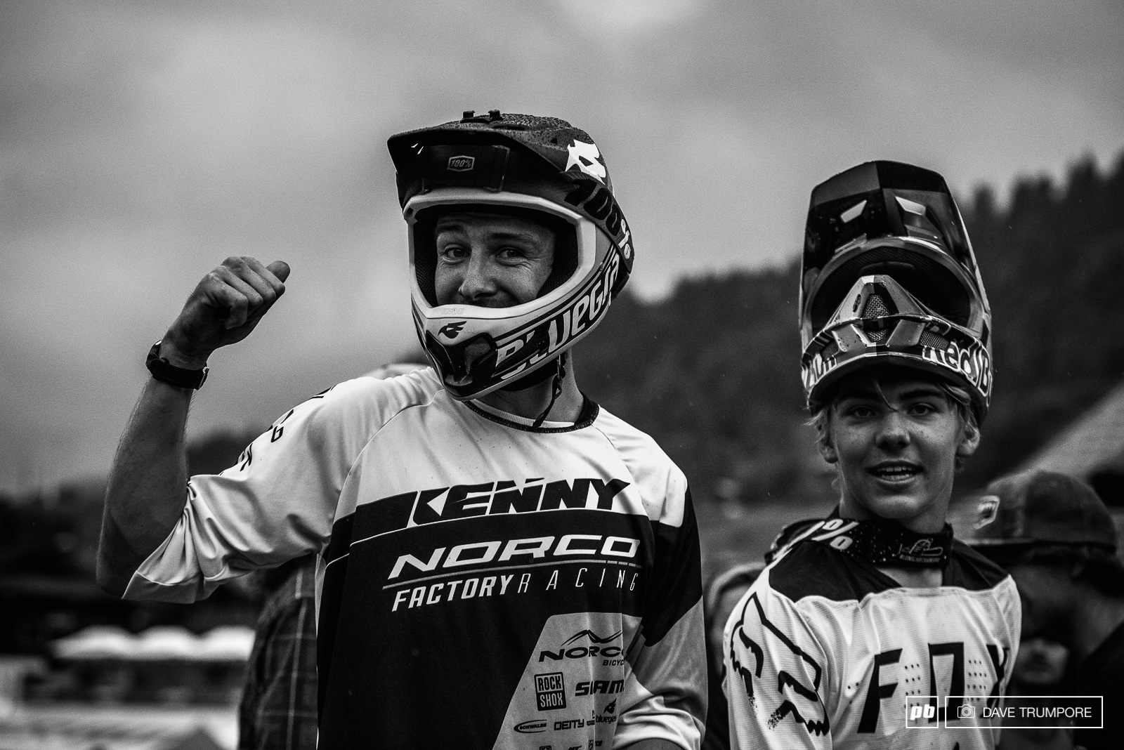 Sam Blenkinsop and Finn Iles less than excited about the thunderstorm quickly moving in.
