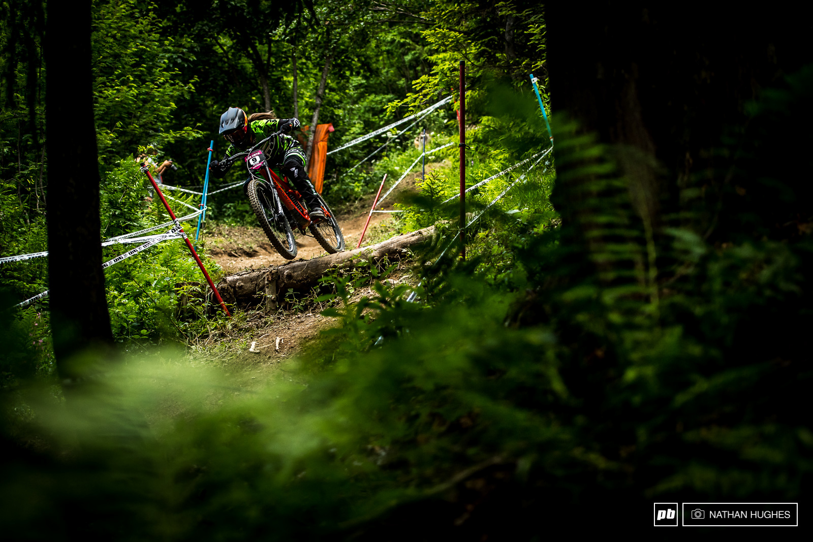 Vaee Verbeeck at home in the ferns riding to a top 10.