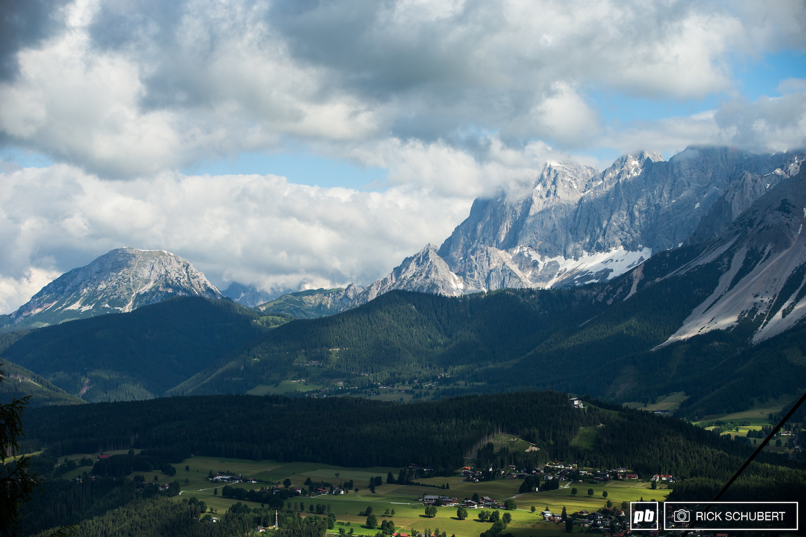 The wild mountainside of Schladming in its total beauty