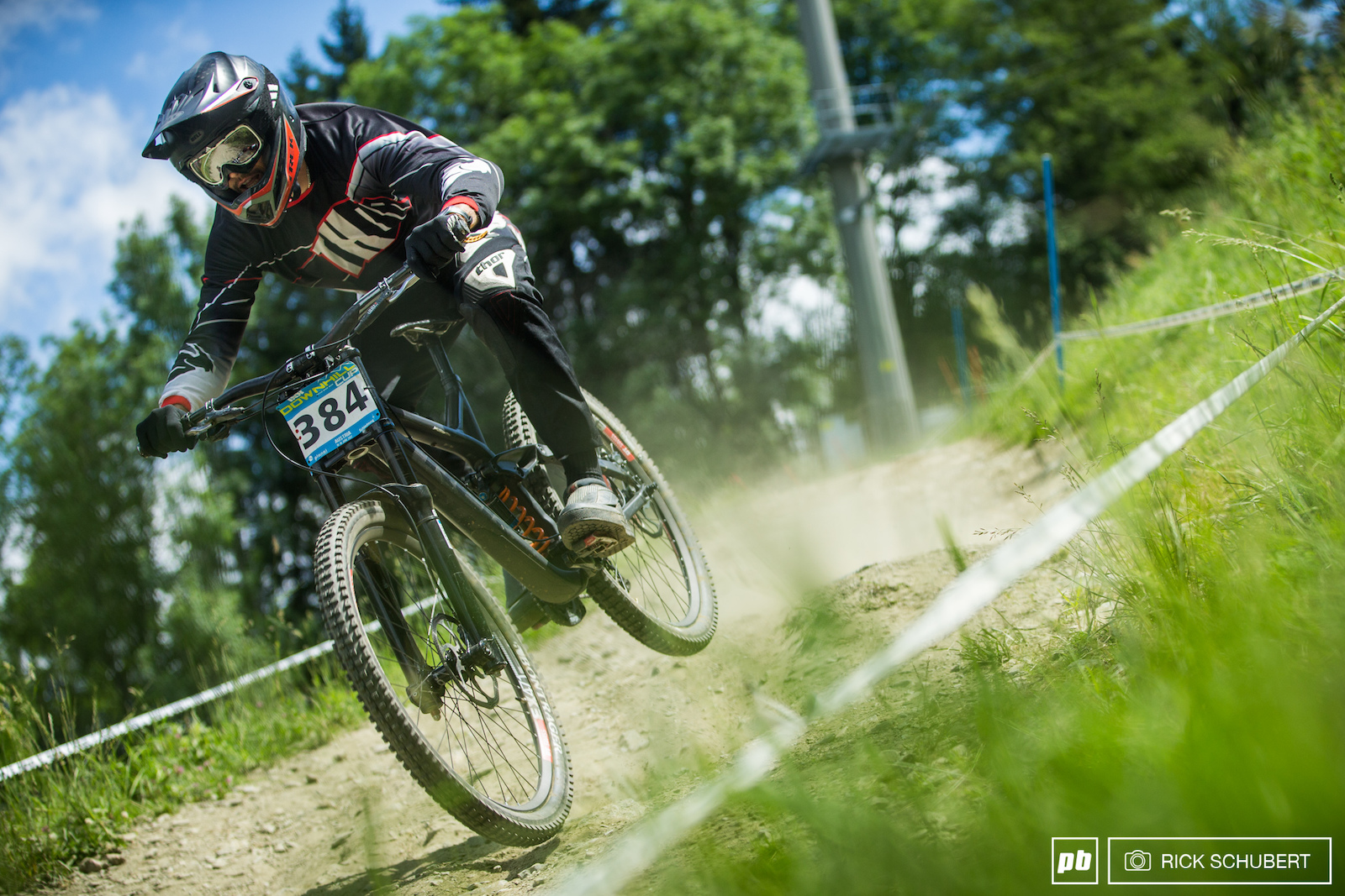 Dominik Dierich took the win in the masters category by just 0.099 seconds