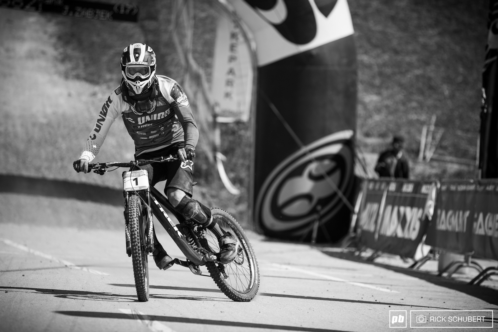 Jure Zabjek stormed into the finish area with his knee pads down and a dirty jersey