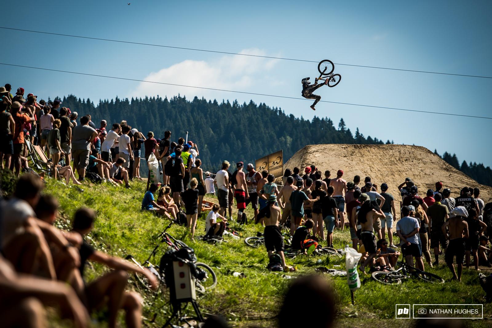 Tomas Lemoine mid flip-whip.