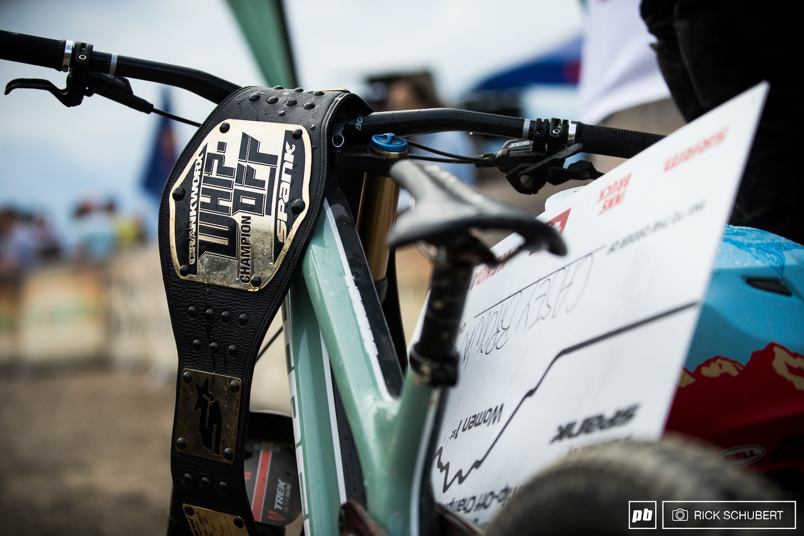 The infamous Crankworx Whip Off belt everyone is bent on