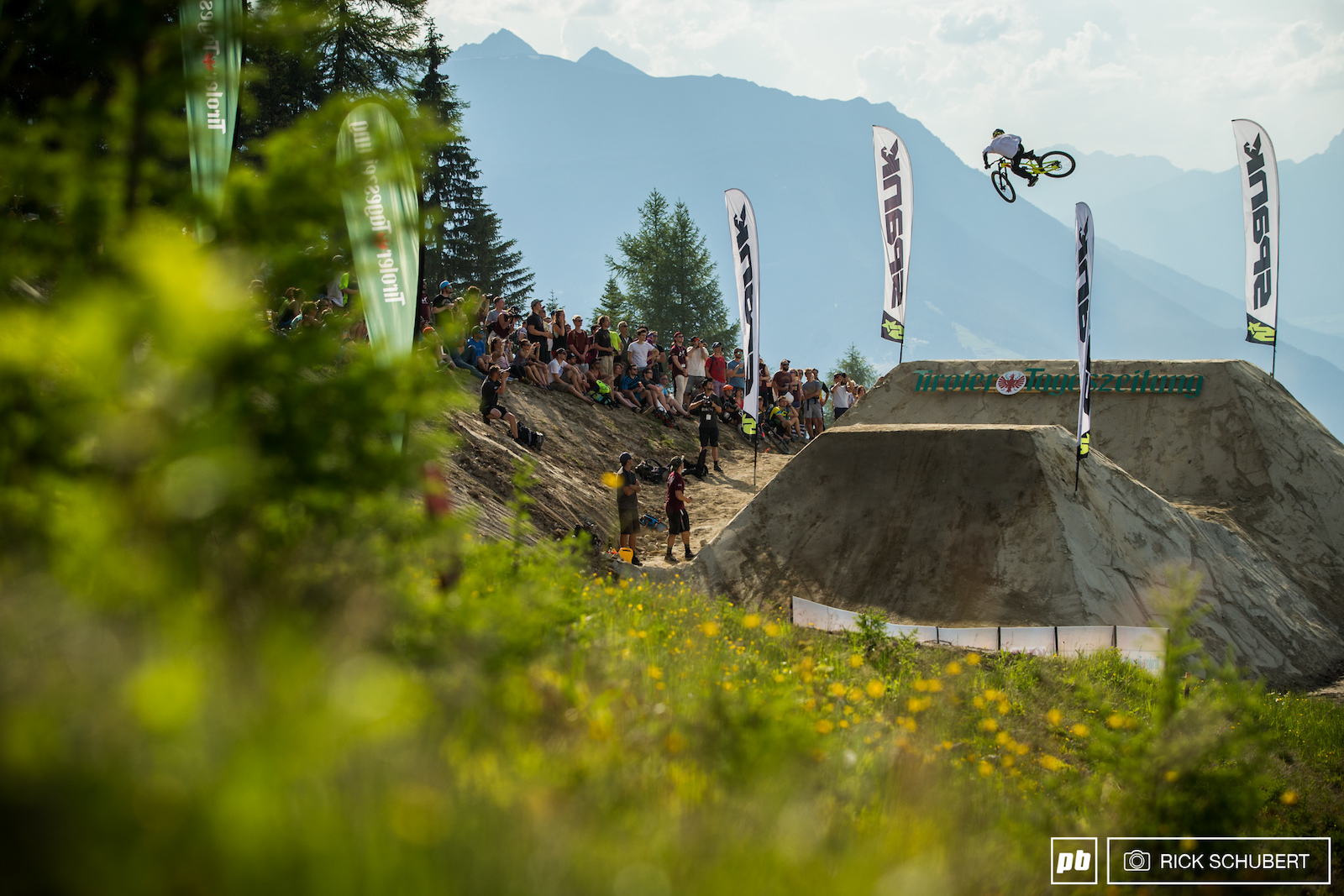 Jackson Davis was one of the first riders to attempt the massive jump and made it look easy right away