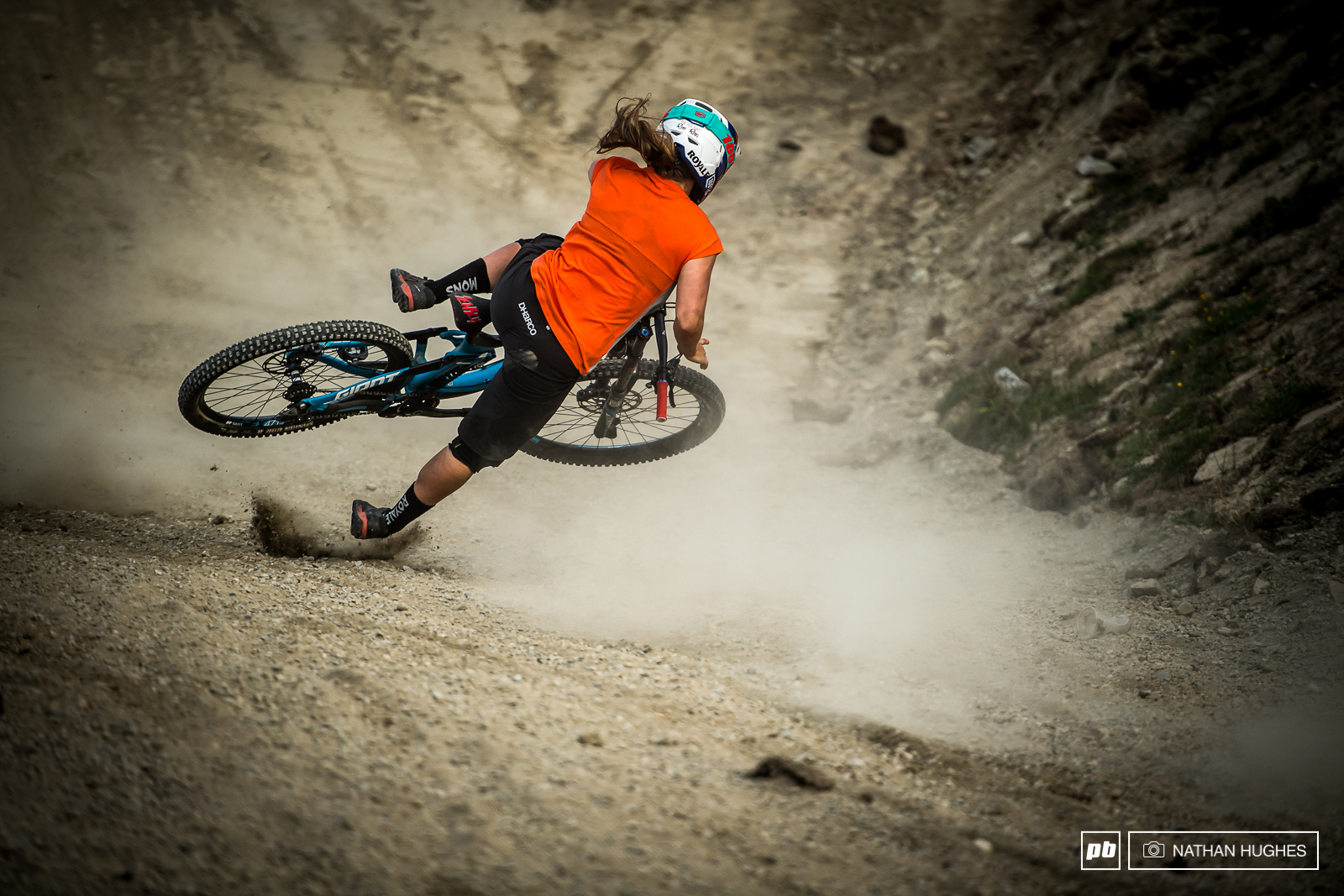 Some of the huge crashes on the unforgiving jumps were tough to watch.