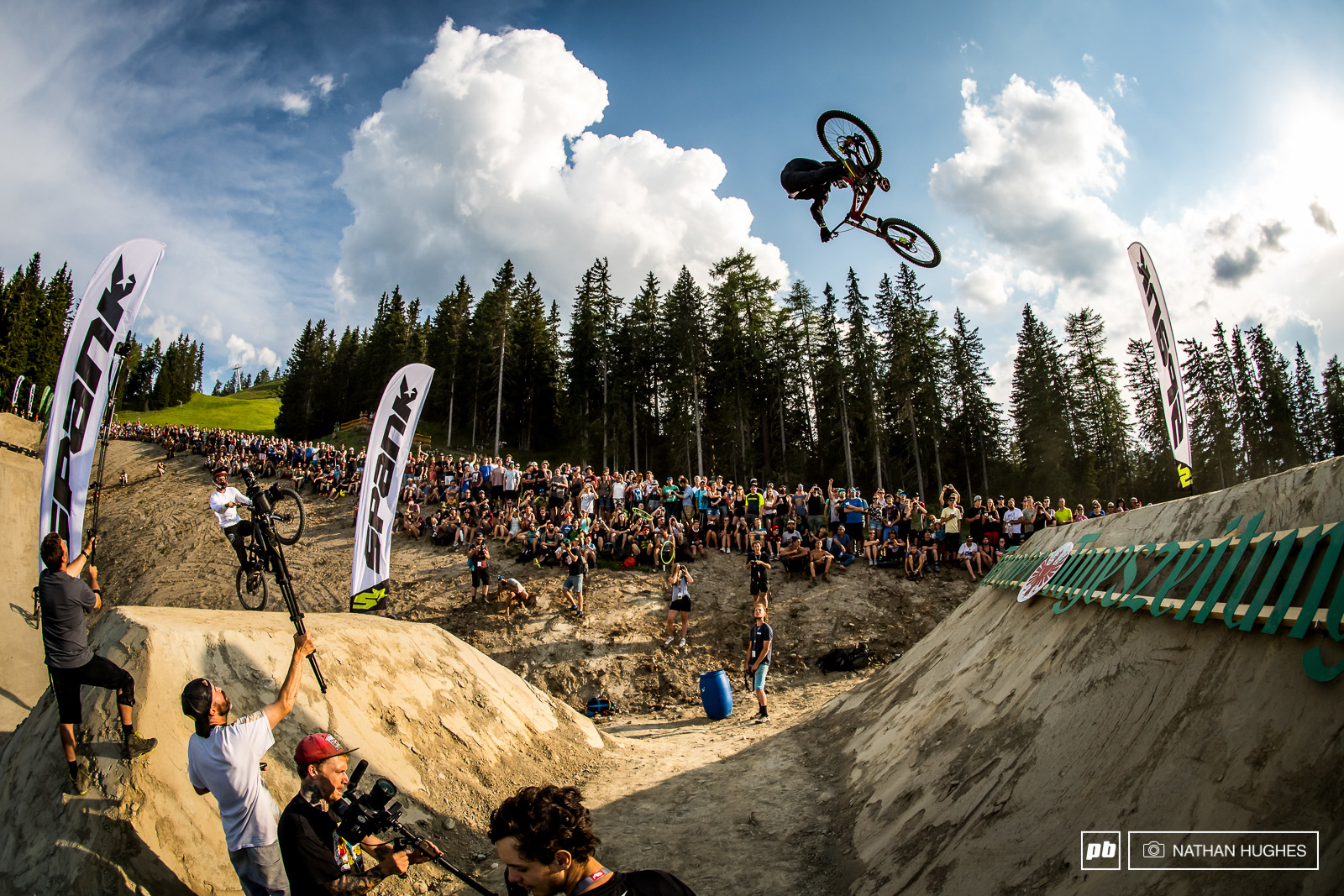 Austrian trials boss Fabio Wibmer knows how to handle a big bike.