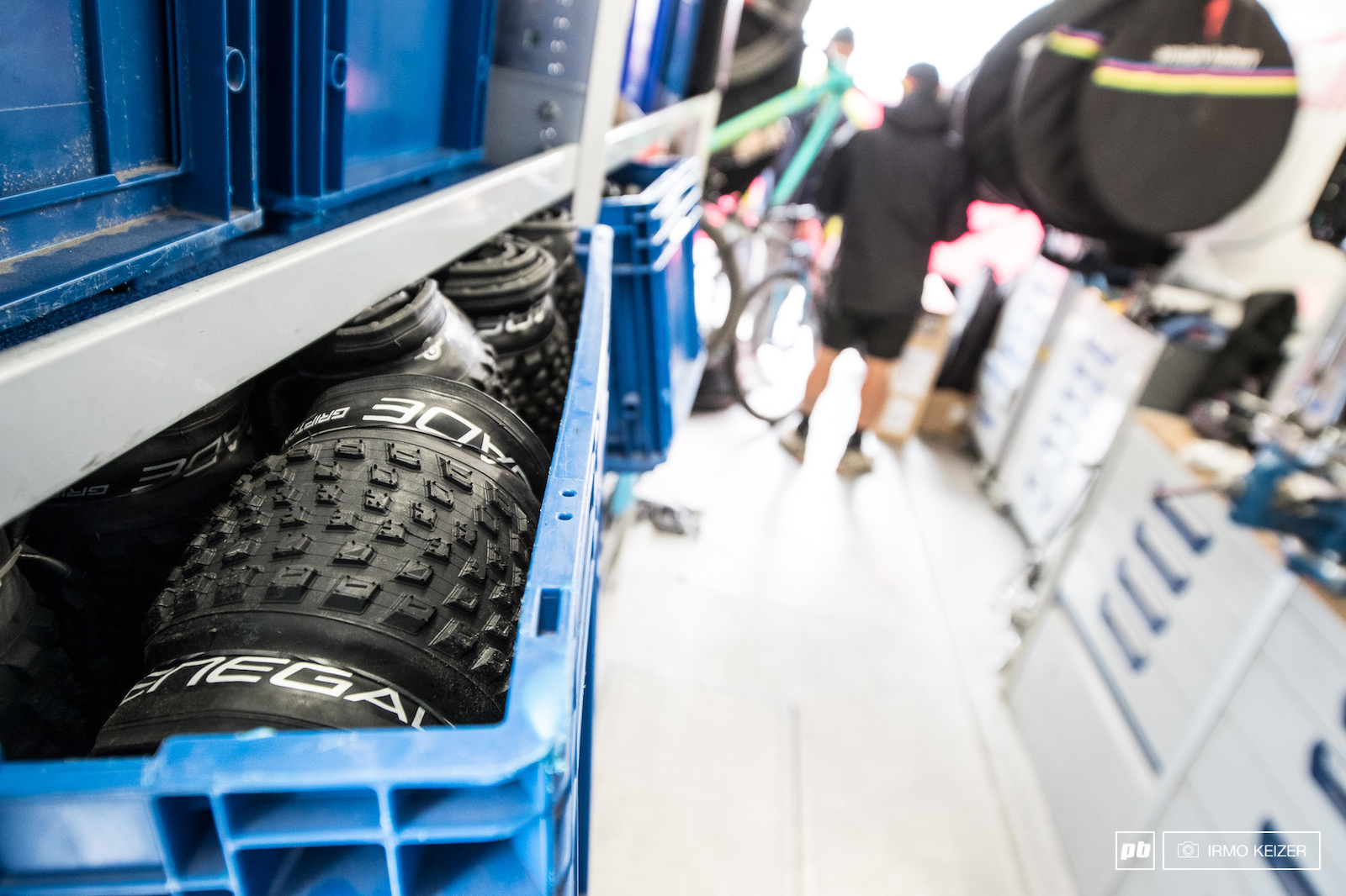 Loads and loads of tyres.
