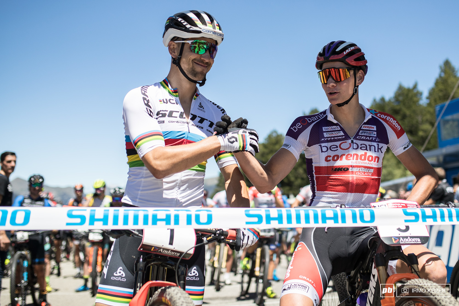 Mathieu van der Poel r caused quite the stir as he challenged Schurter s dominance in Albstadt. Today Schurter showed the world his class.