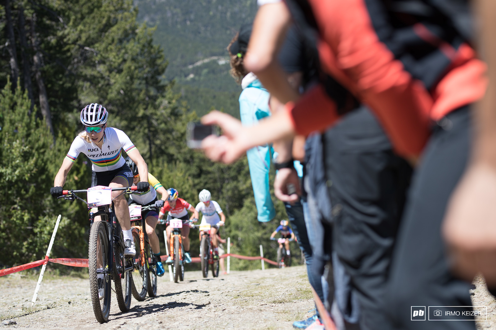 Annika Langvad reigning World Champion in both cross country and marathon disciplines rode a consistent race today.