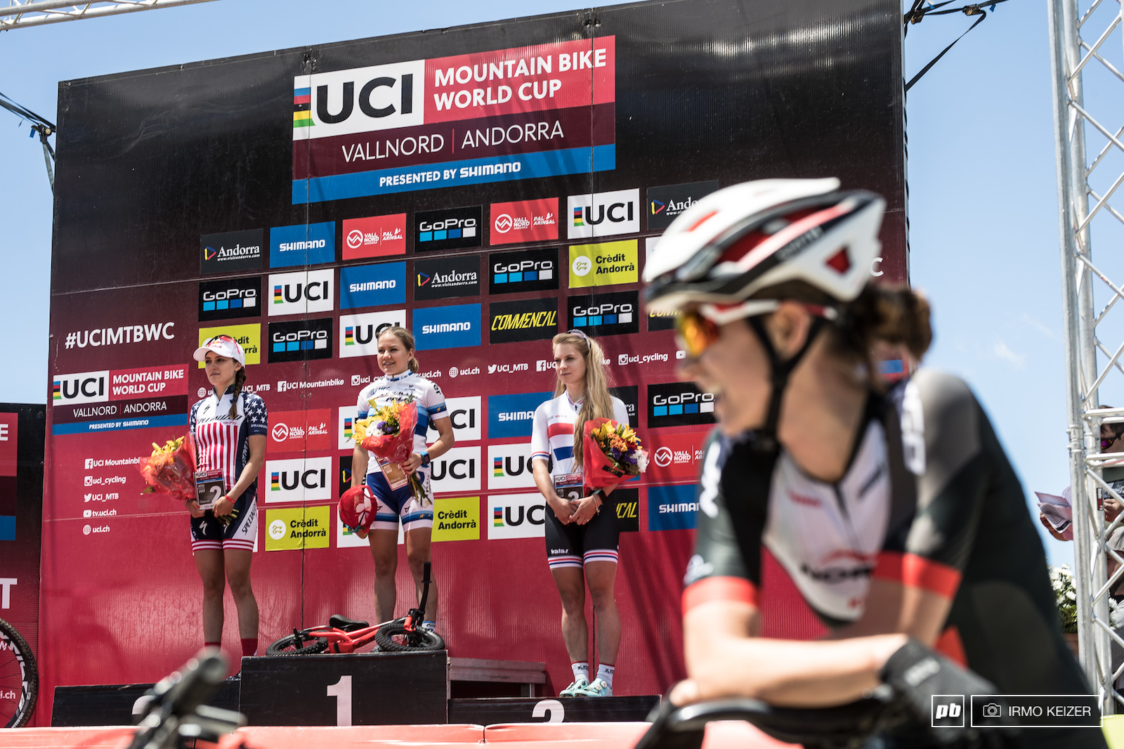 A very very tight schedule in Andorra saw riders finishing their race having to wait for the podium prior to riding out of the finish area.