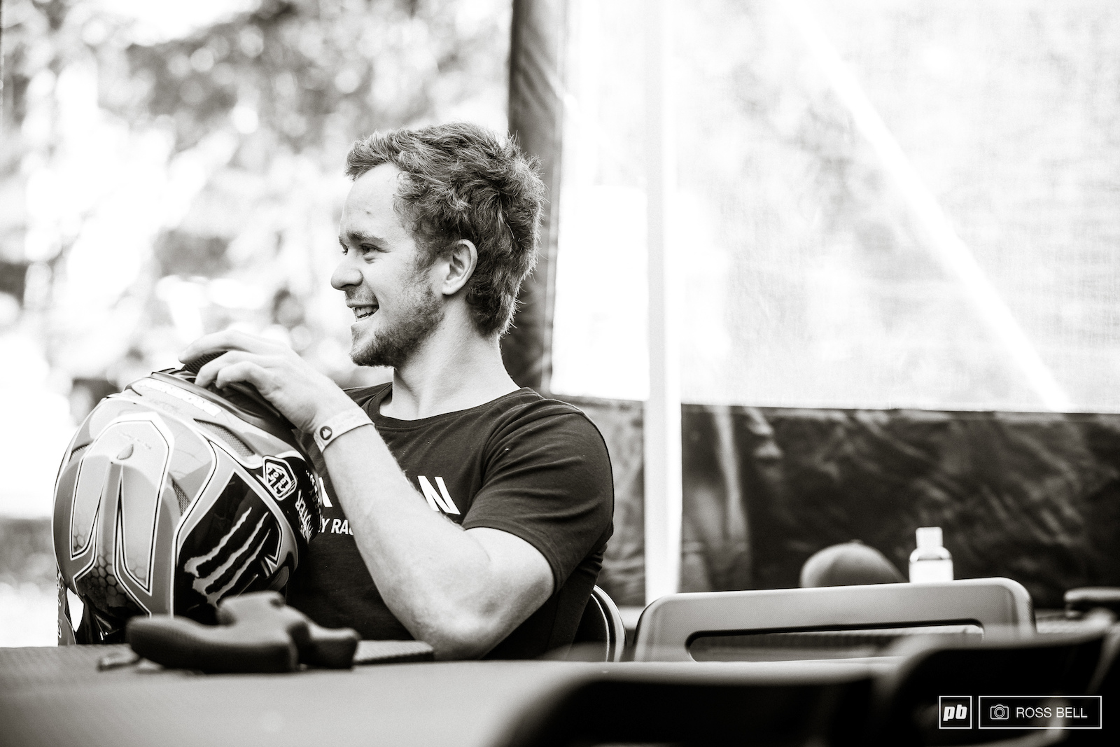 All smiles for Troy this morning before laying down a scorcher into the fastest time today.