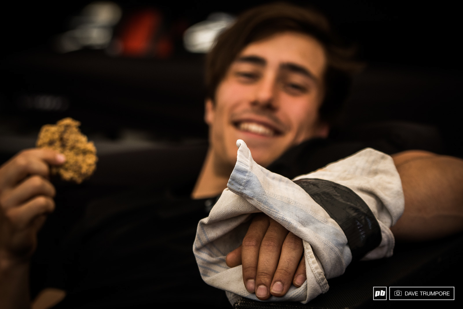 Gaetan Vige smashed his hand pretty hard and his weekend might just be over.