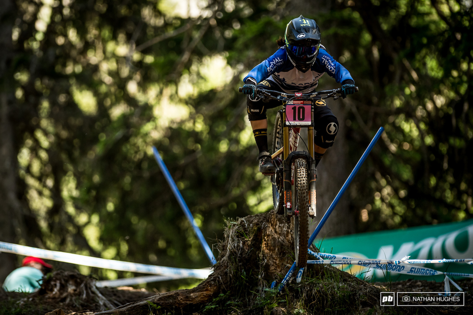 Salvador s fastest export Maria Salazar hucking the stump jump famously pioneered by Troy Brosnan back in 2015.