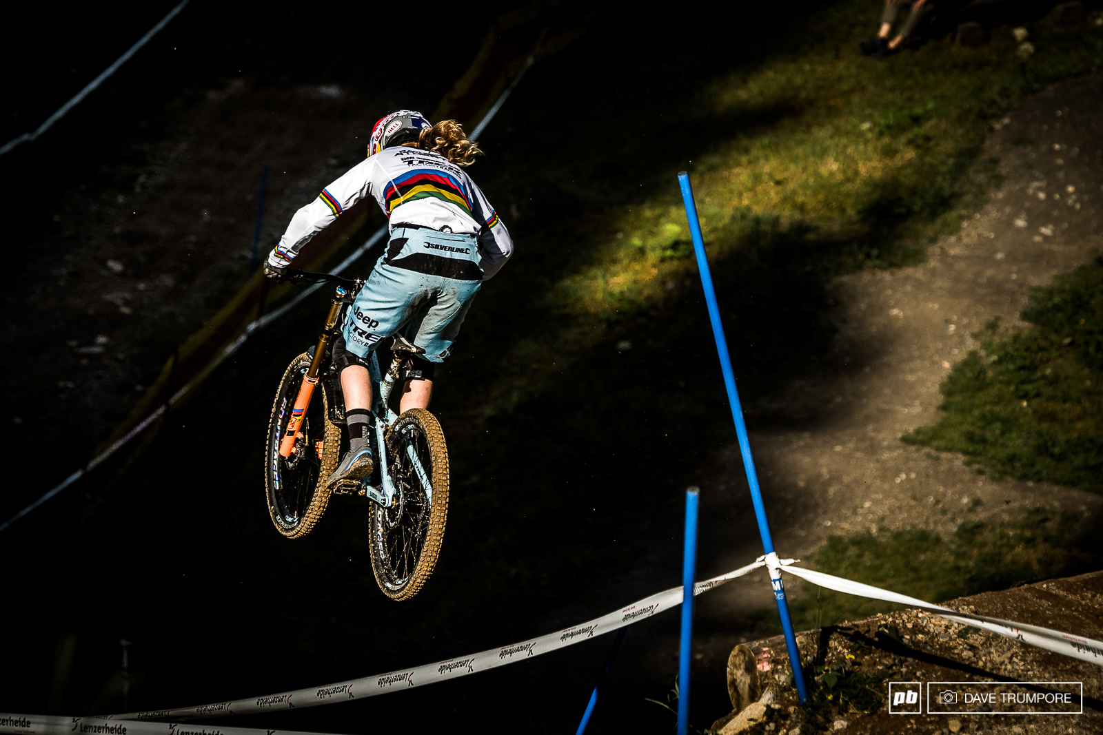 Rachel Atherton has made a remarkable return from injury to take 2nd on the day and only half a second back from the win.