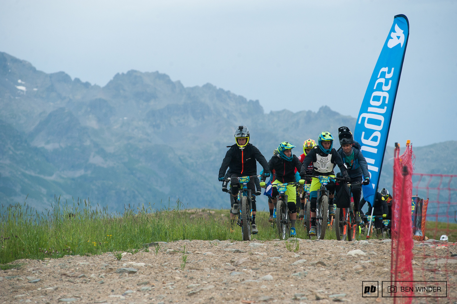 Riders began to make their way to the start line a short pedal from the lift station.