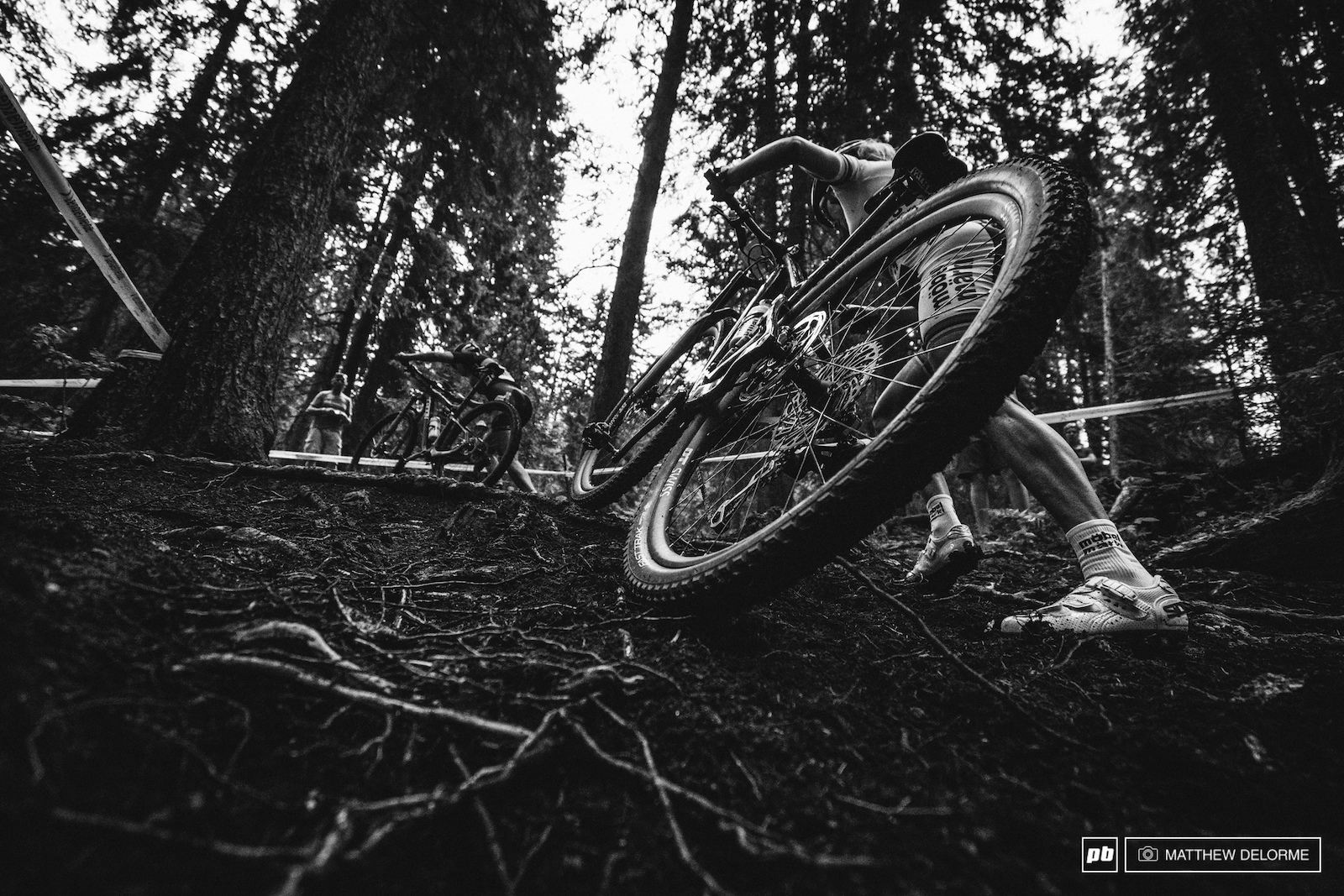 Some of the woods were slick rooty mess and most riders had to dismount.