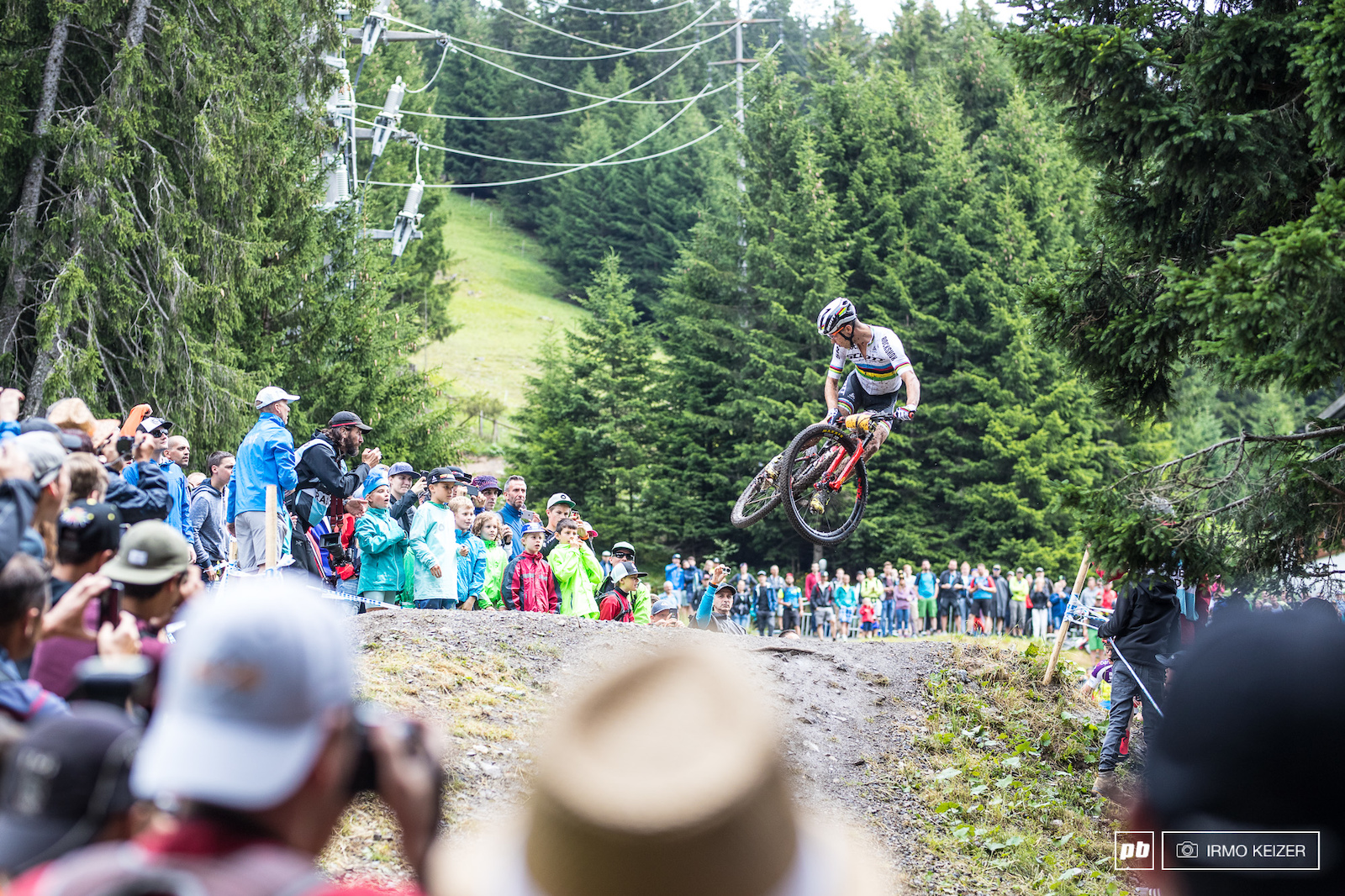 Nino Schurter giving the crowds even more reasons to cheer.