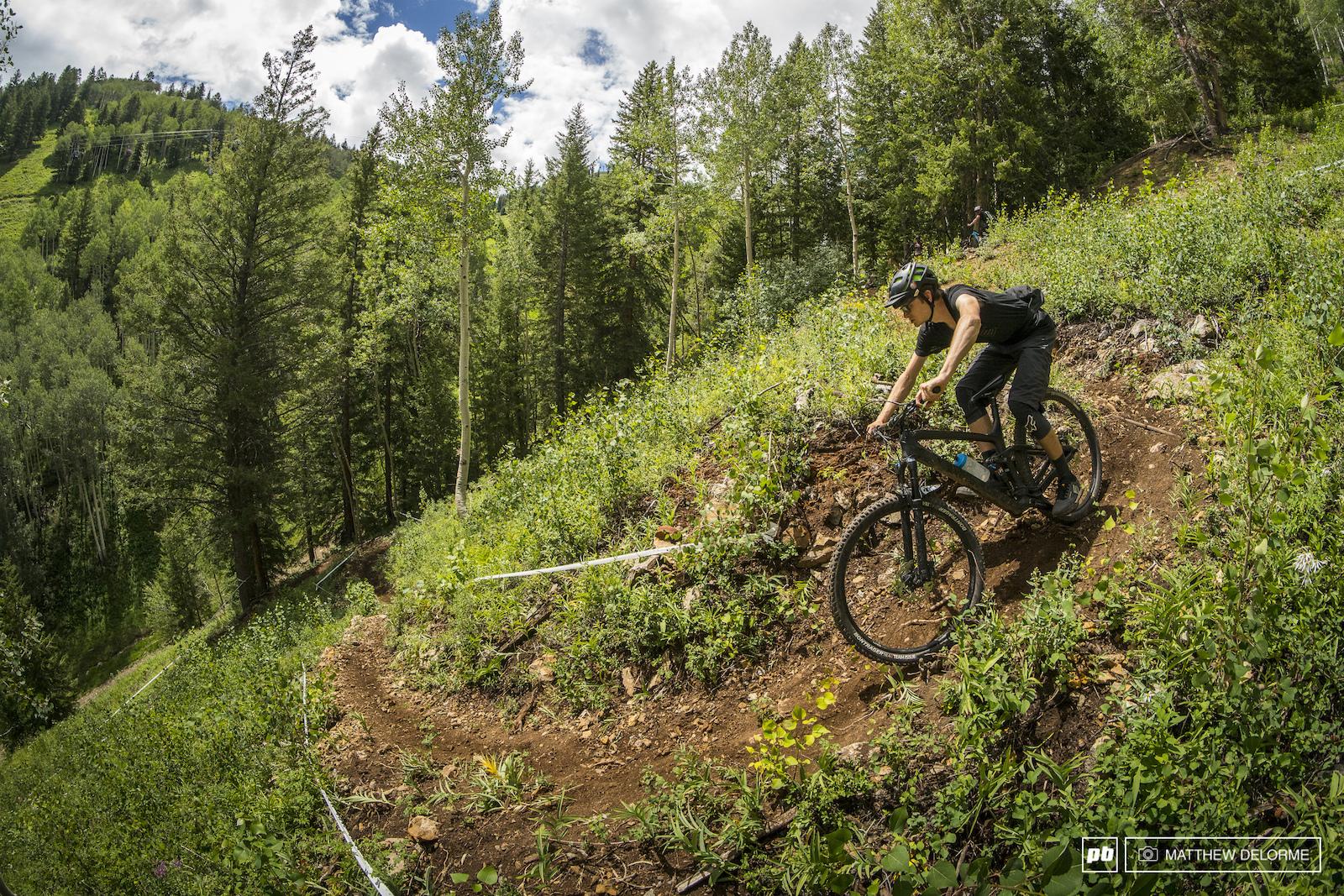 Duncan Philpott enjoying a rare bit of damp Colorado hero dirt.