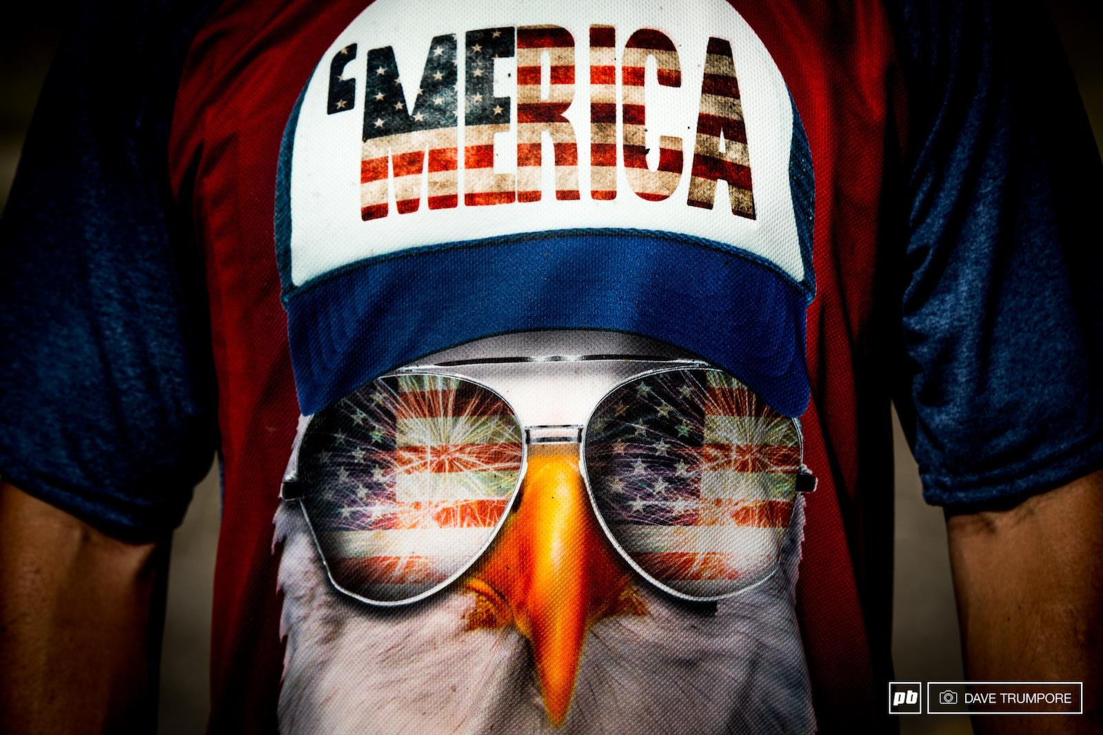 Bald Eagles trucker hats fireworks and aviators... Merica.