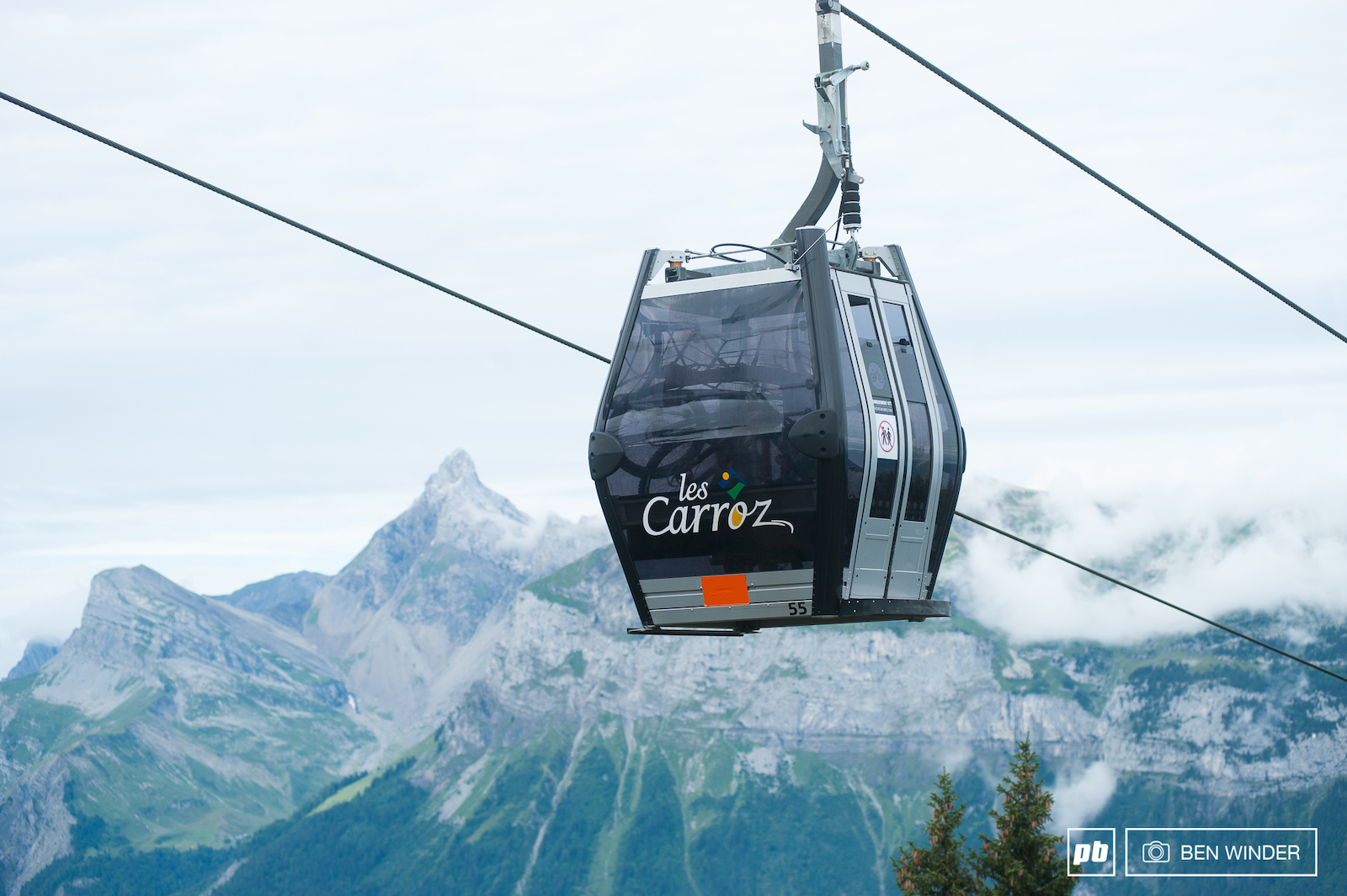 French Downhill Champs in Les Carroz.