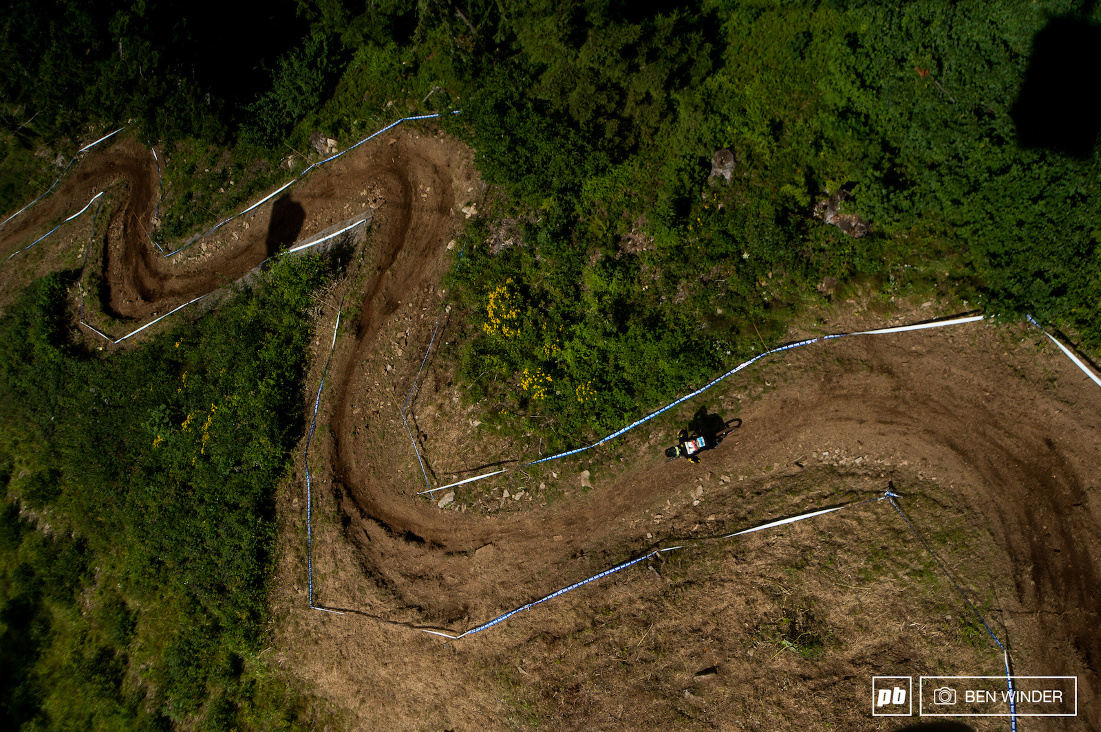 These may look like bikepark berms but they re fast rough and rocky and still super exciting to watch.