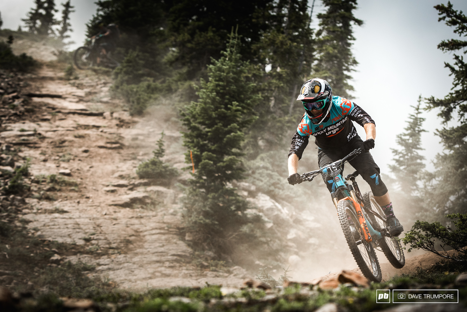 Remi Gauvin battles thought the thick dust that was kicking up on stage 4.