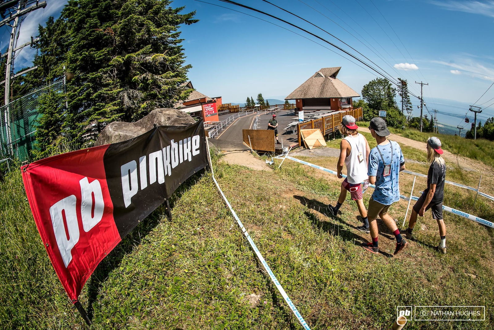 One of the first and only alterations to the course is an unlikely diversion across the decking of the mountain restaurant. This was actually where the first DH races back in 1991 began.