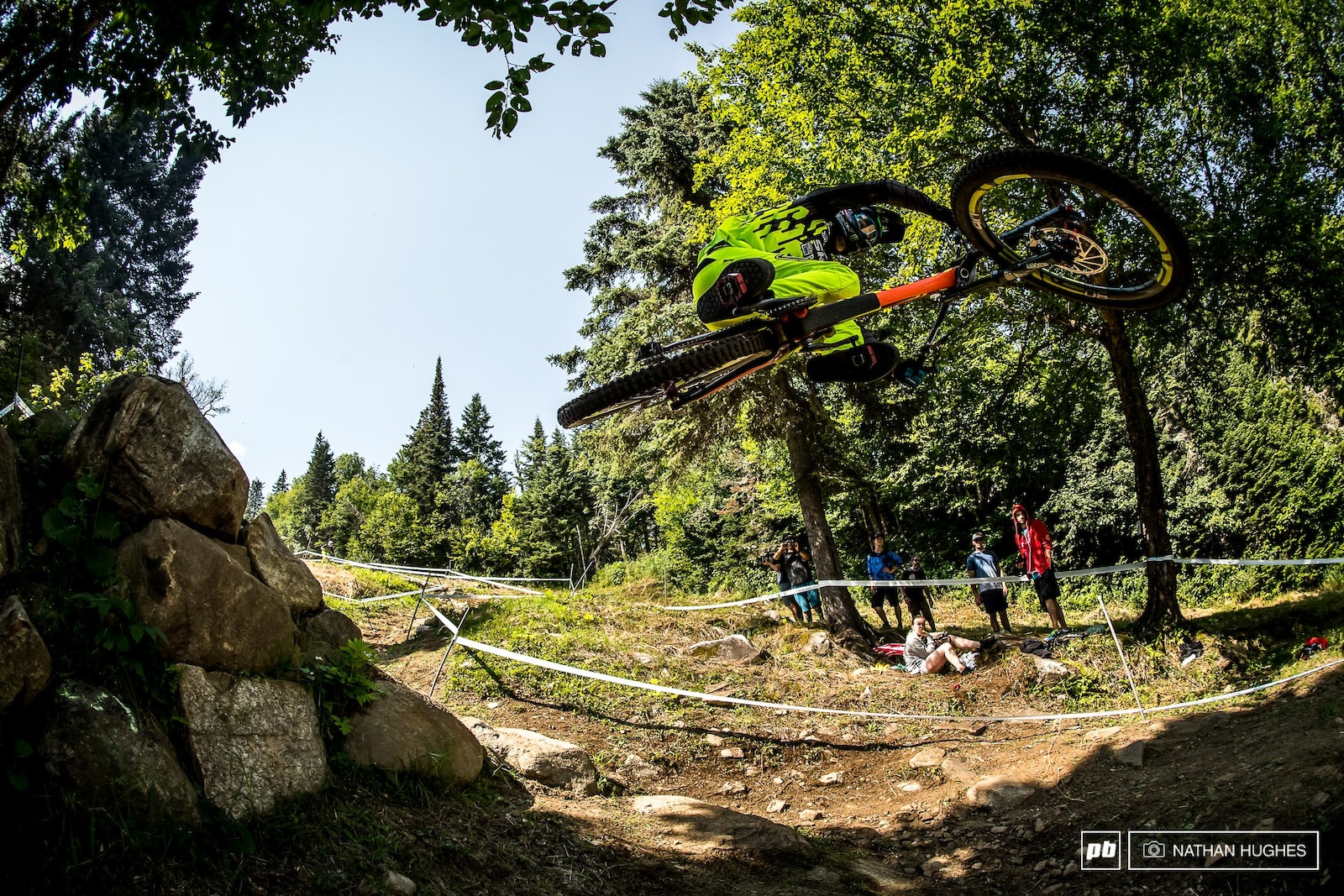 Charlie Harrison airing out the armpits on a sweltering day on the mountain.