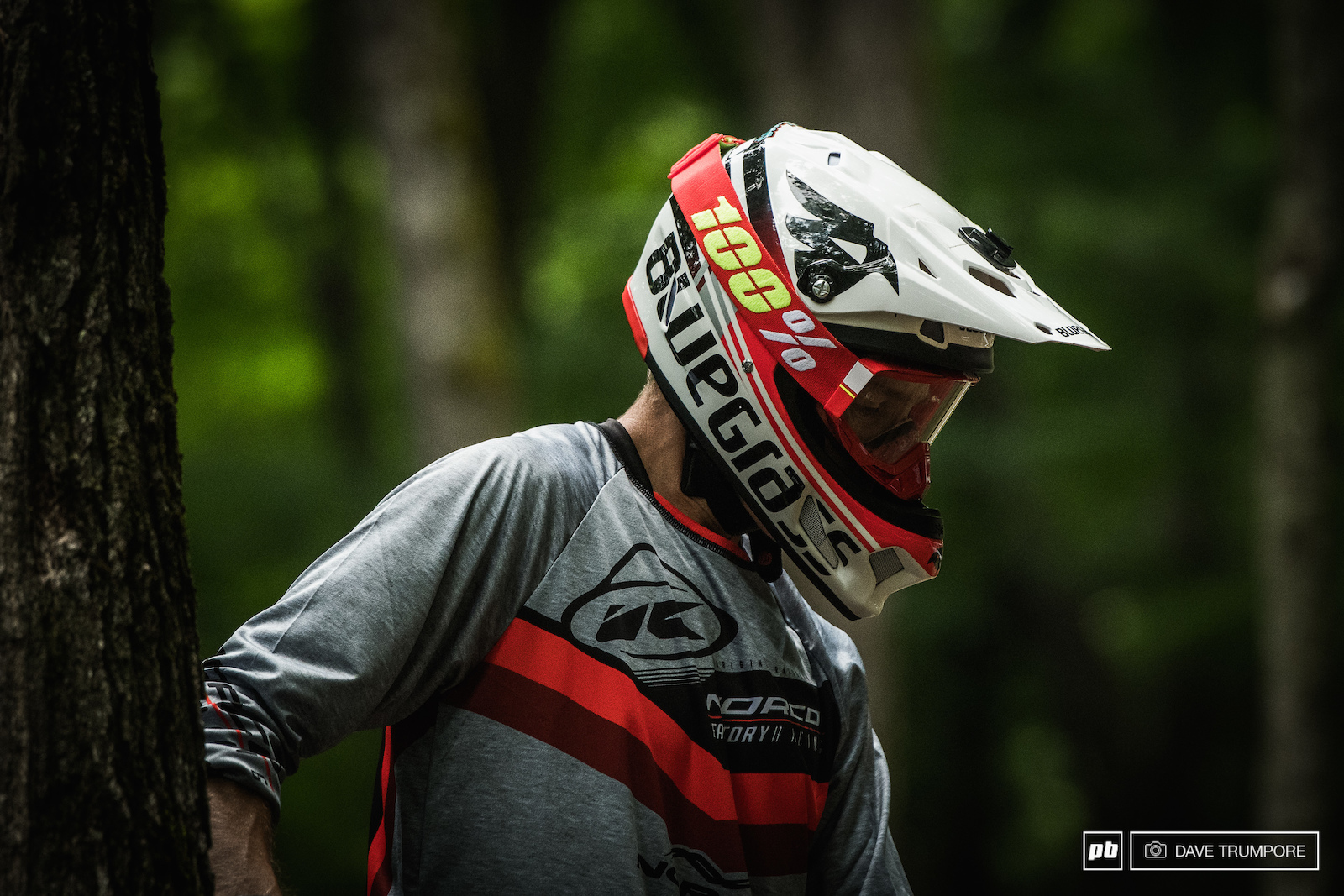 Sam Blenkinsop was one of a host of riders who had a long look at some of the rock gardens that seam to have grown in size this year.